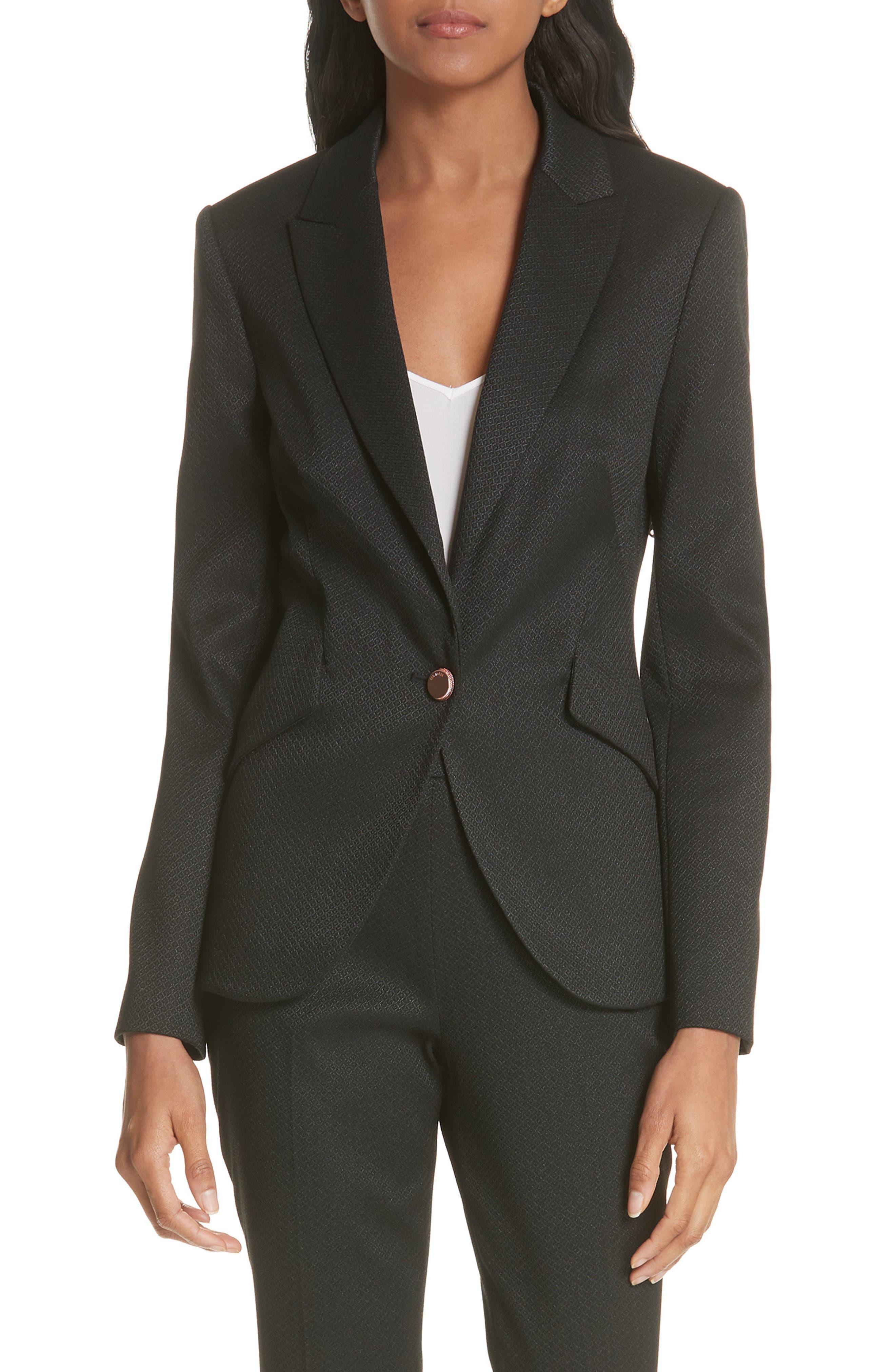 Textured Jacket,                         Main,                         color, Black