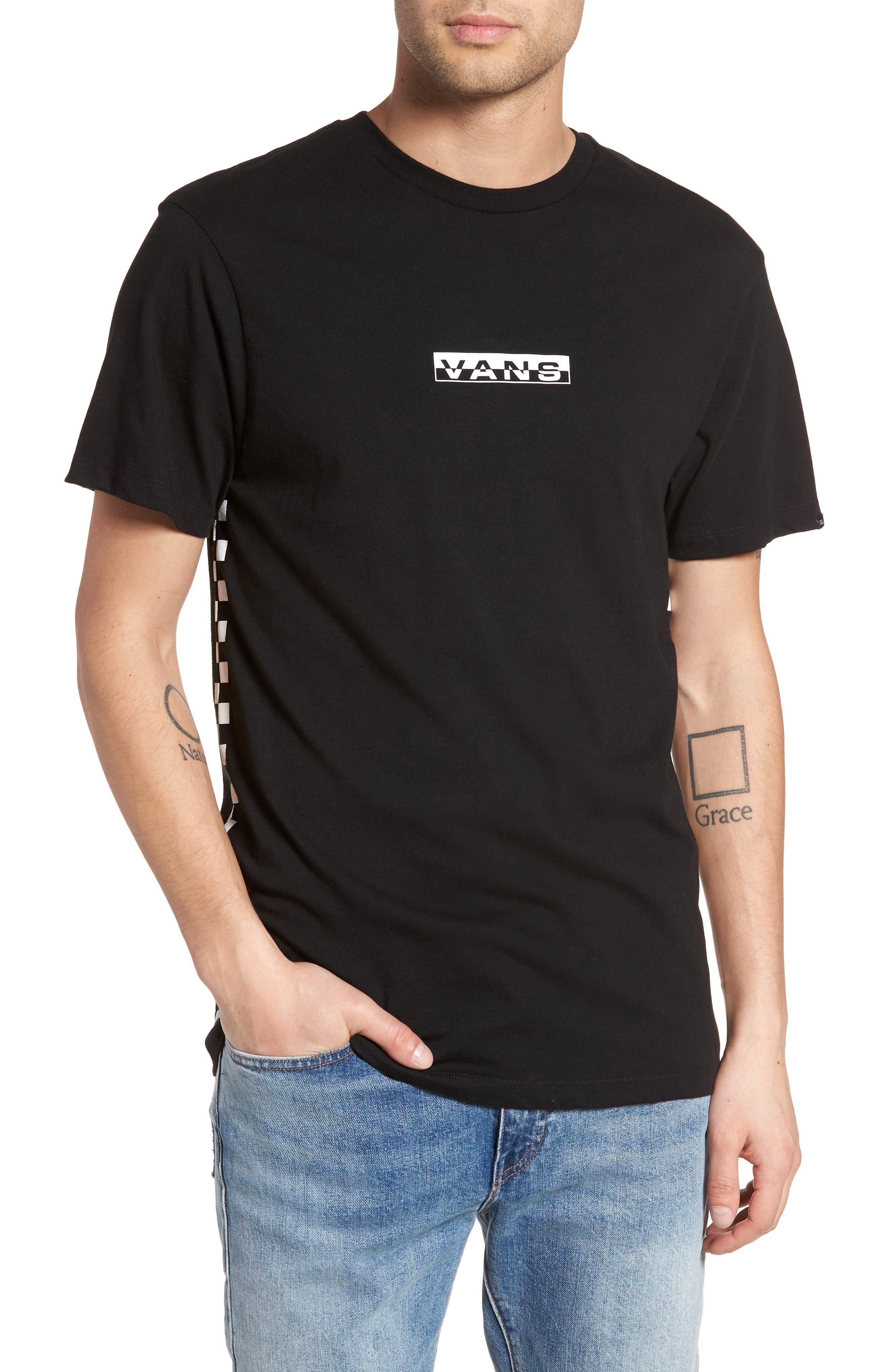 Classic Checkmate T-Shirt,                         Main,                         color, Black/ White