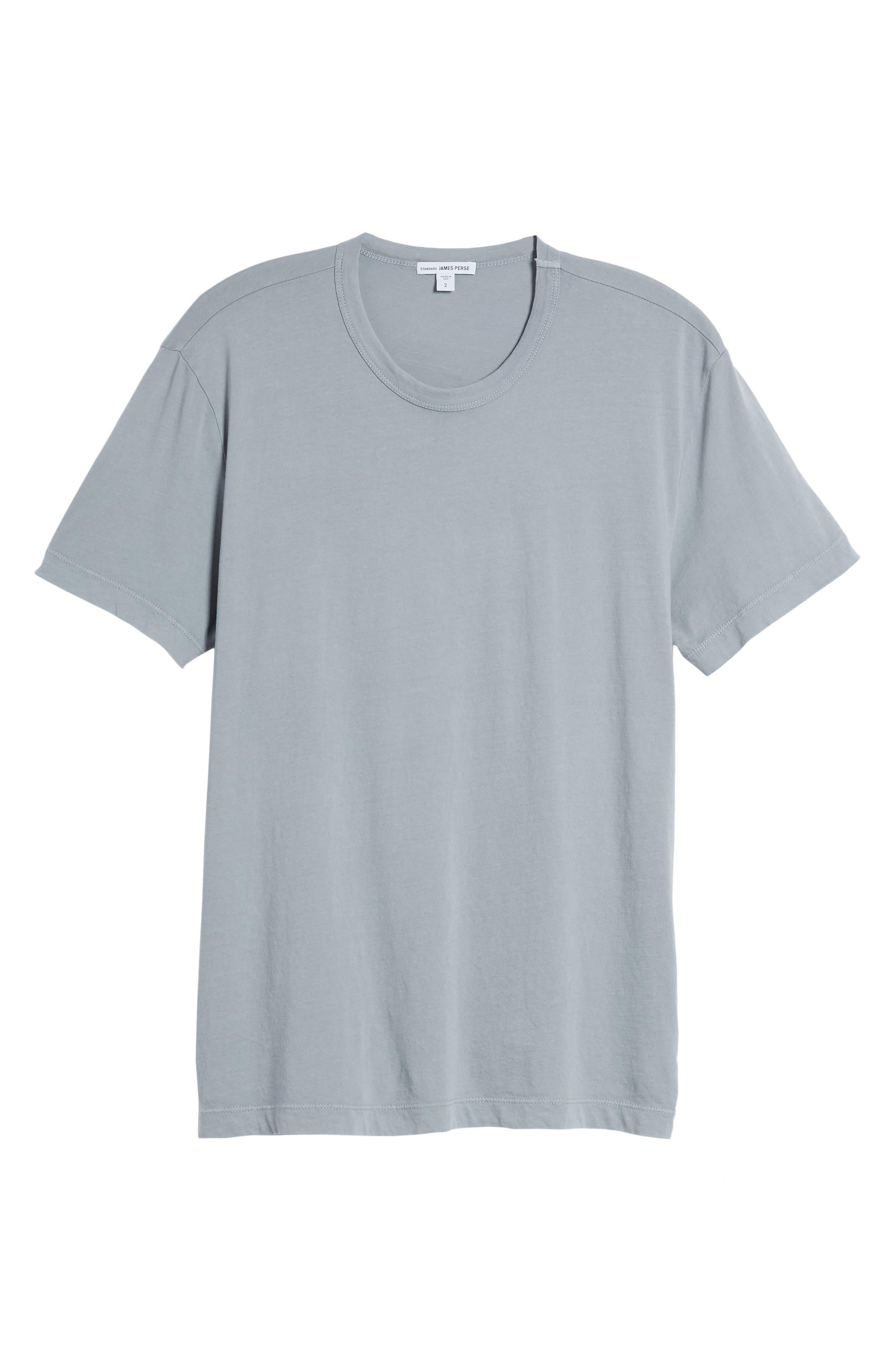 Checkerboard Crewneck T-Shirt,                             Main thumbnail 1, color,                             Grey Sky Pigment