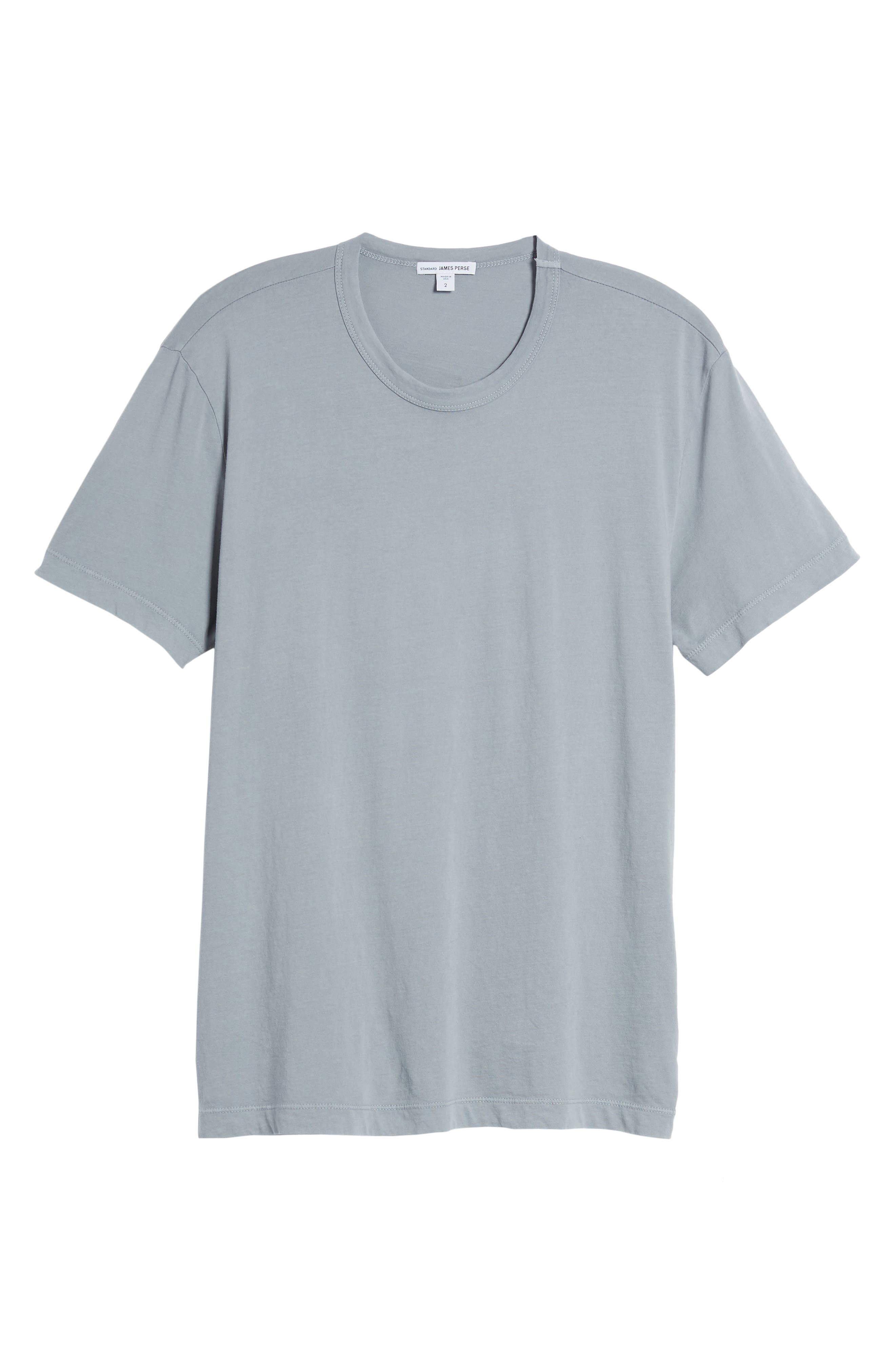 Checkerboard Crewneck T-Shirt,                         Main,                         color, Grey Sky Pigment