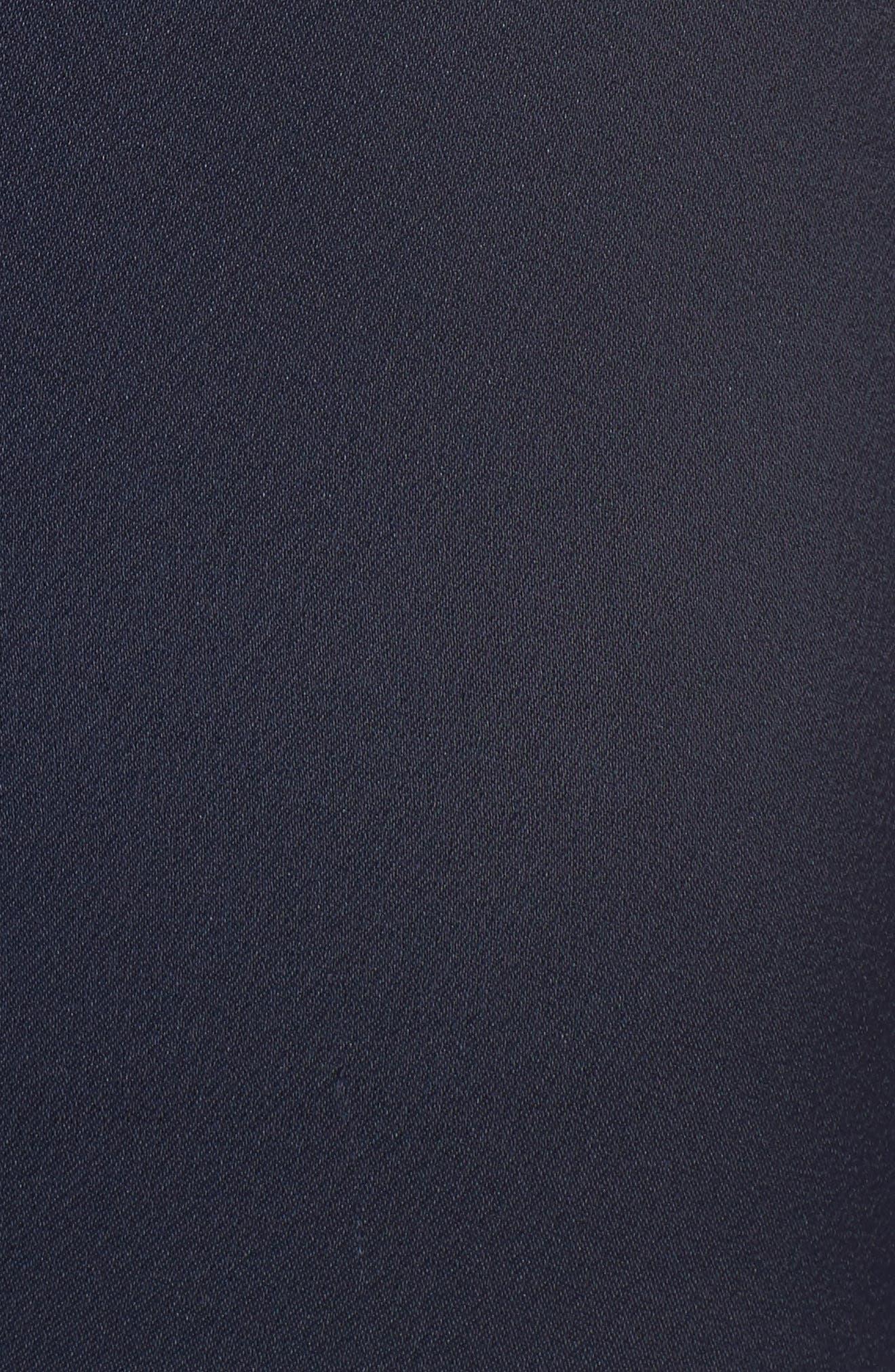 Ruffle Detail Crepe Jumpsuit,                             Alternate thumbnail 6, color,                             Navy