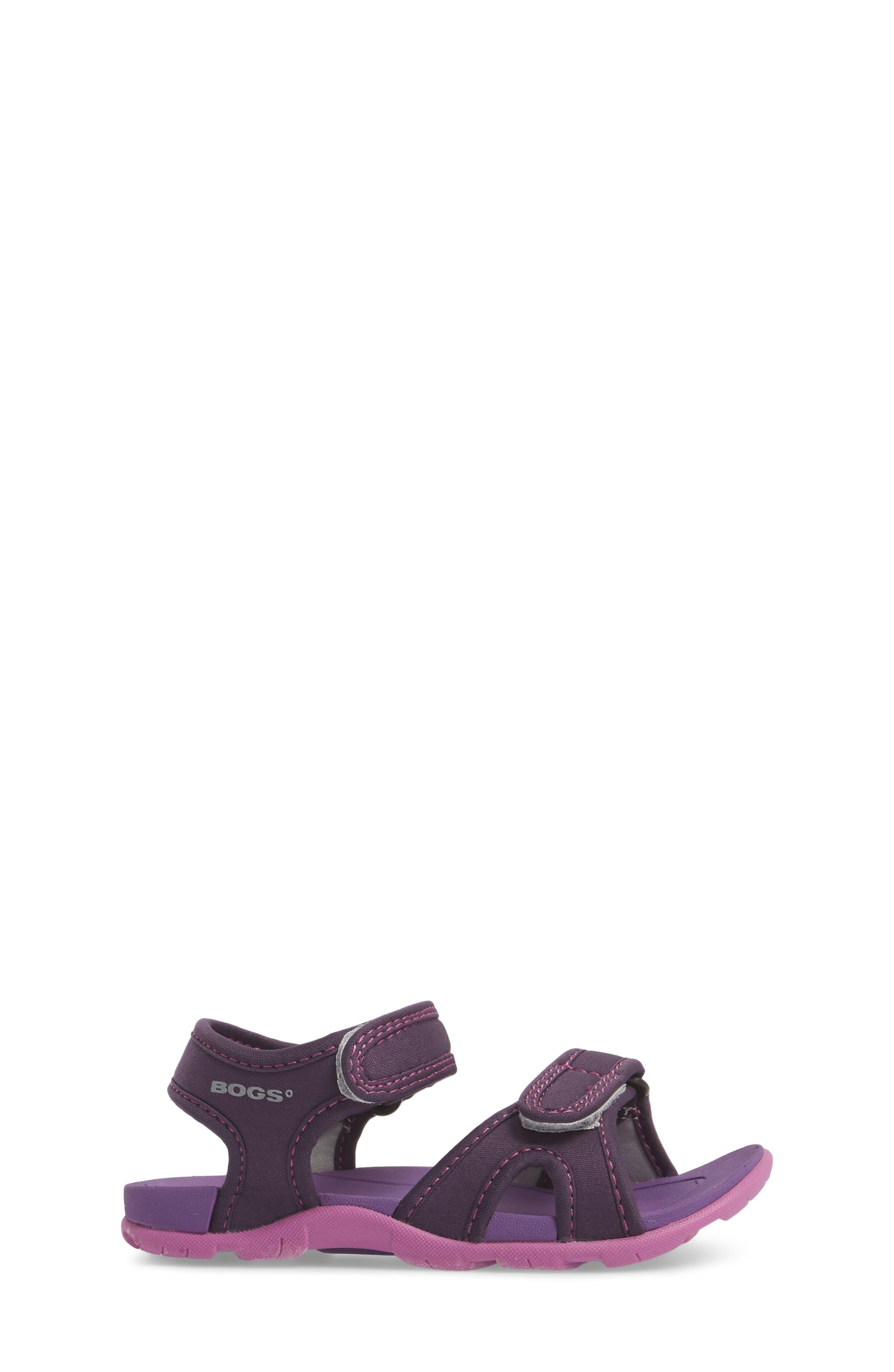 Whitefish Waterproof Sandal,                             Alternate thumbnail 3, color,                             Eggplant Multi