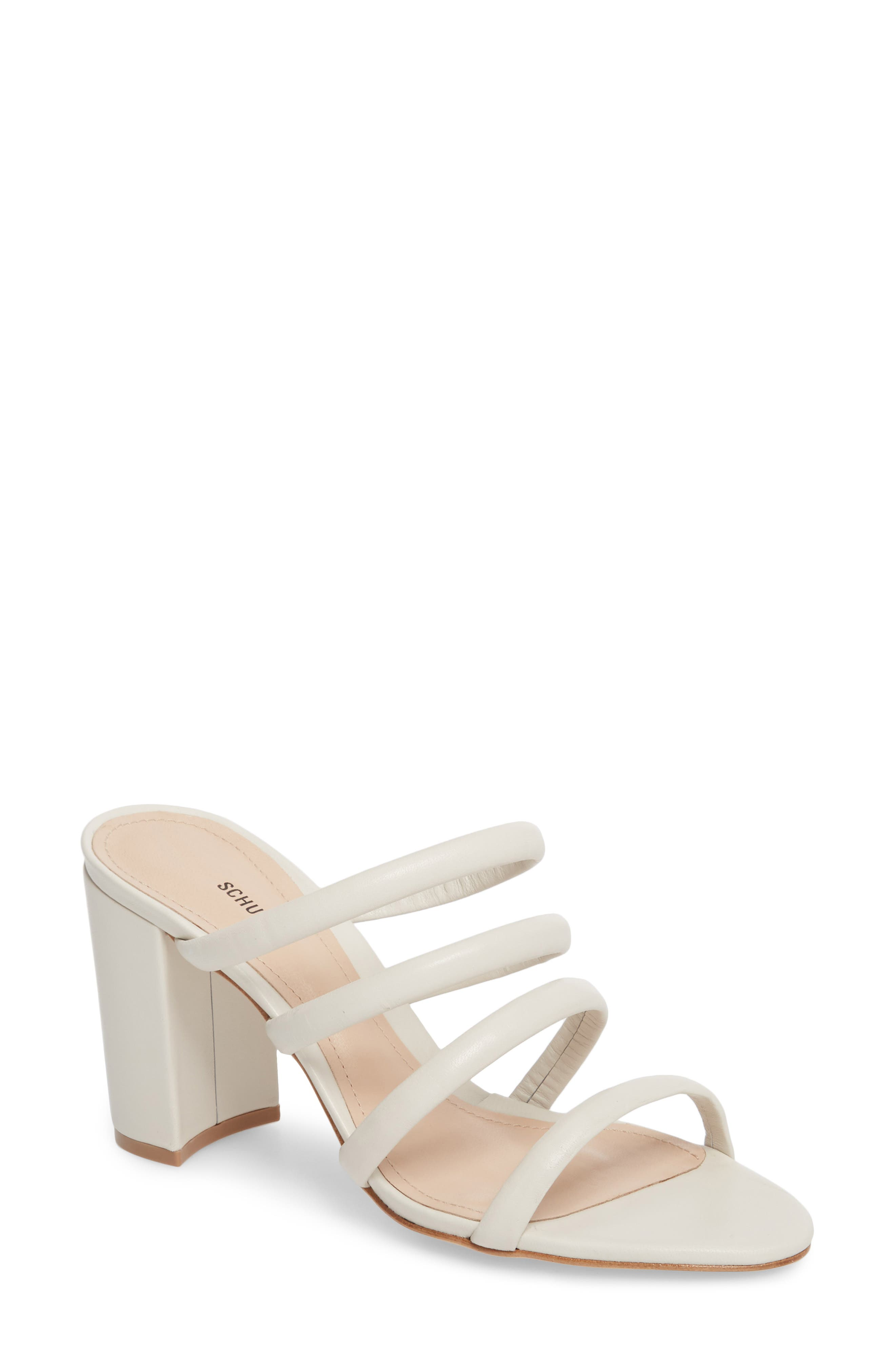 Felisa Block Heel Sandal,                         Main,                         color, Pearl Leather
