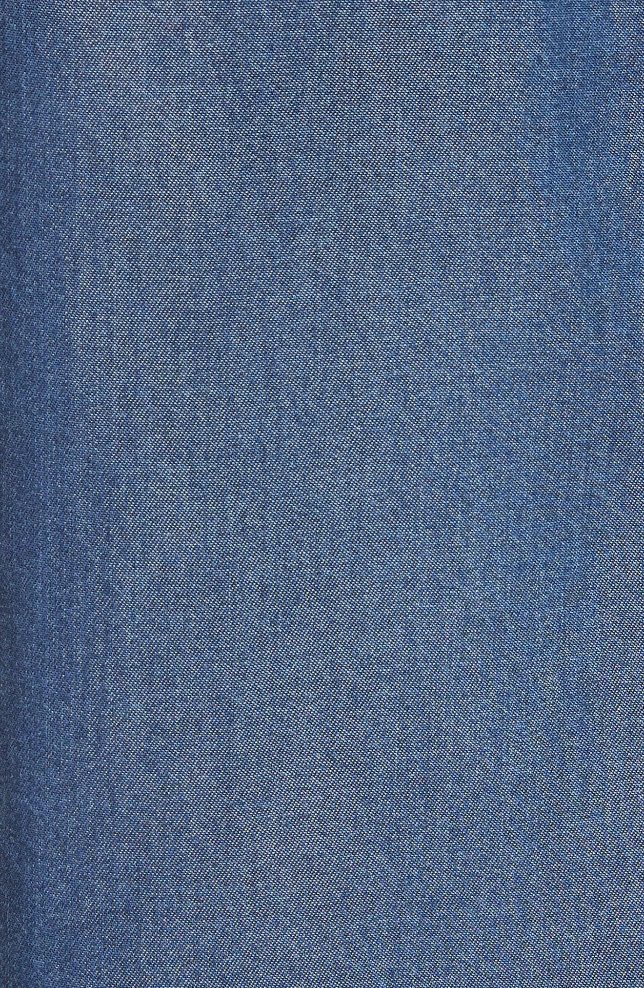 Colour by Numbers Denim Top,                             Alternate thumbnail 5, color,                             Mid-Wash