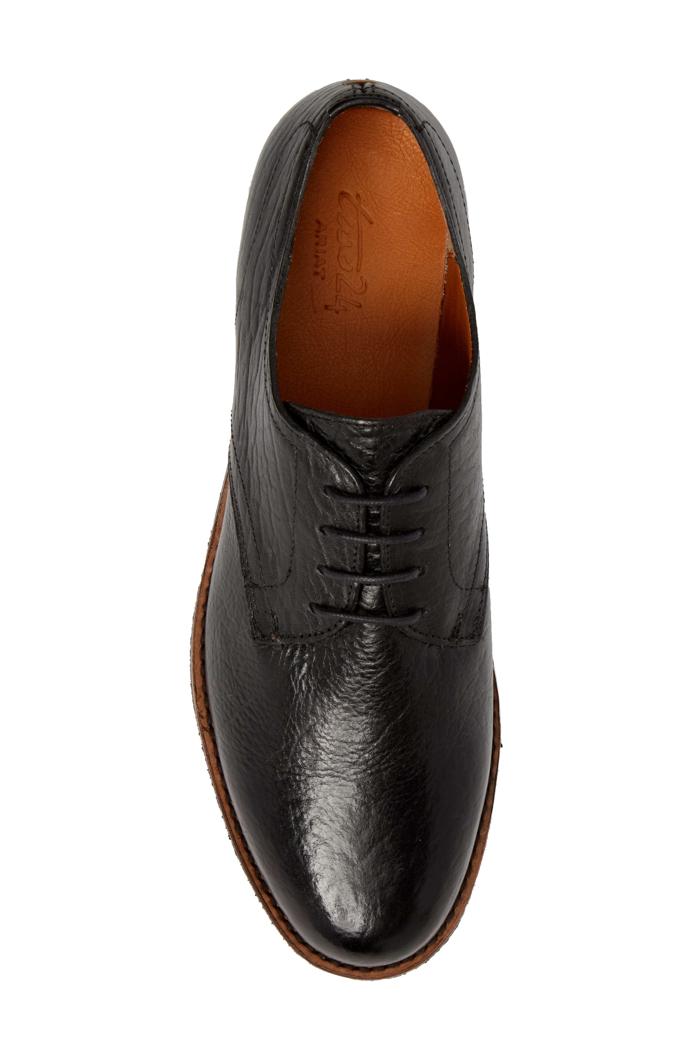 Two24 by Ariat Hawthorne Plain Toe Derby,                             Alternate thumbnail 5, color,                             Black Leather