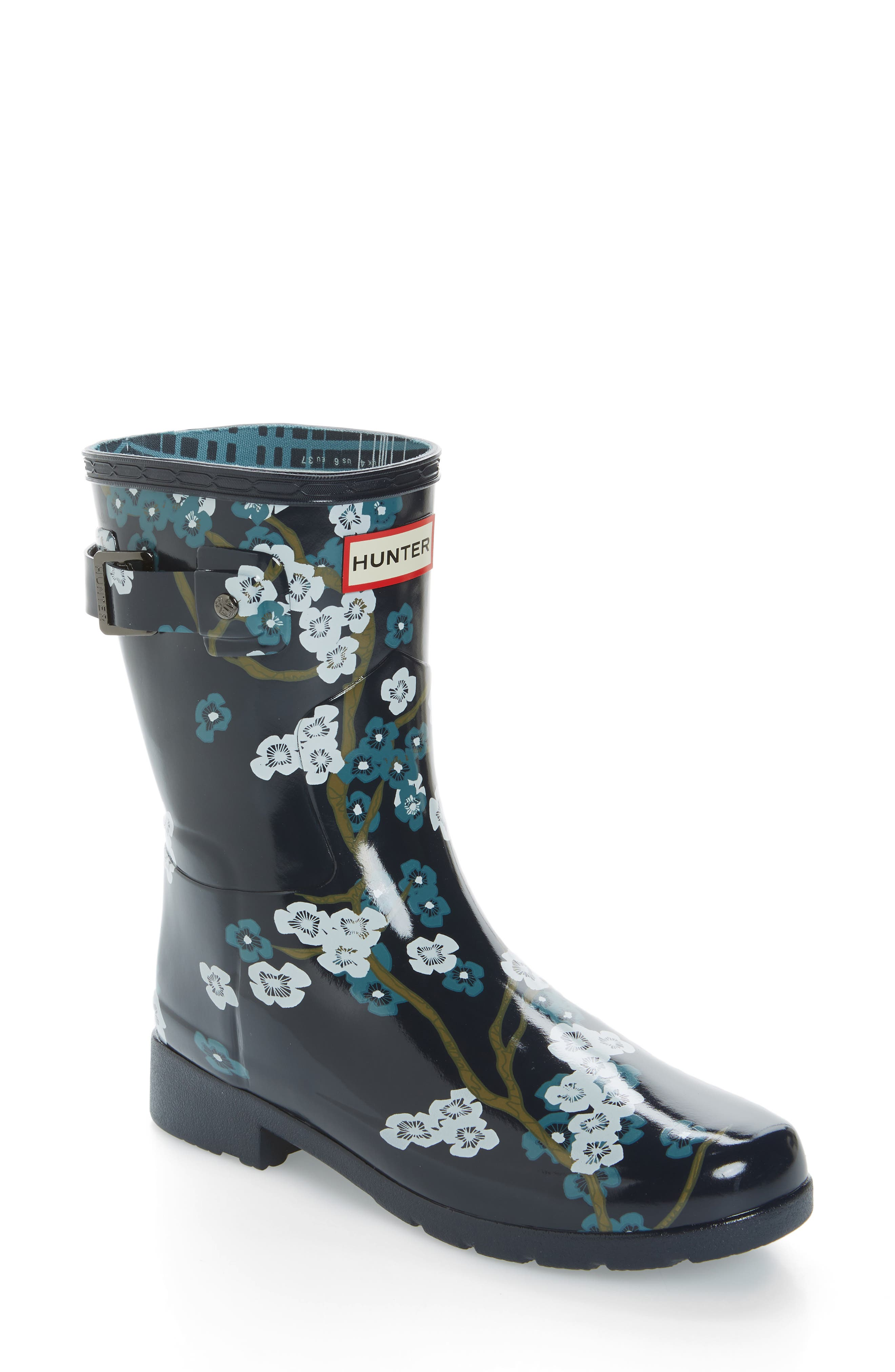 Hunter Original Refined Blossom Print Rain Boot (Women)