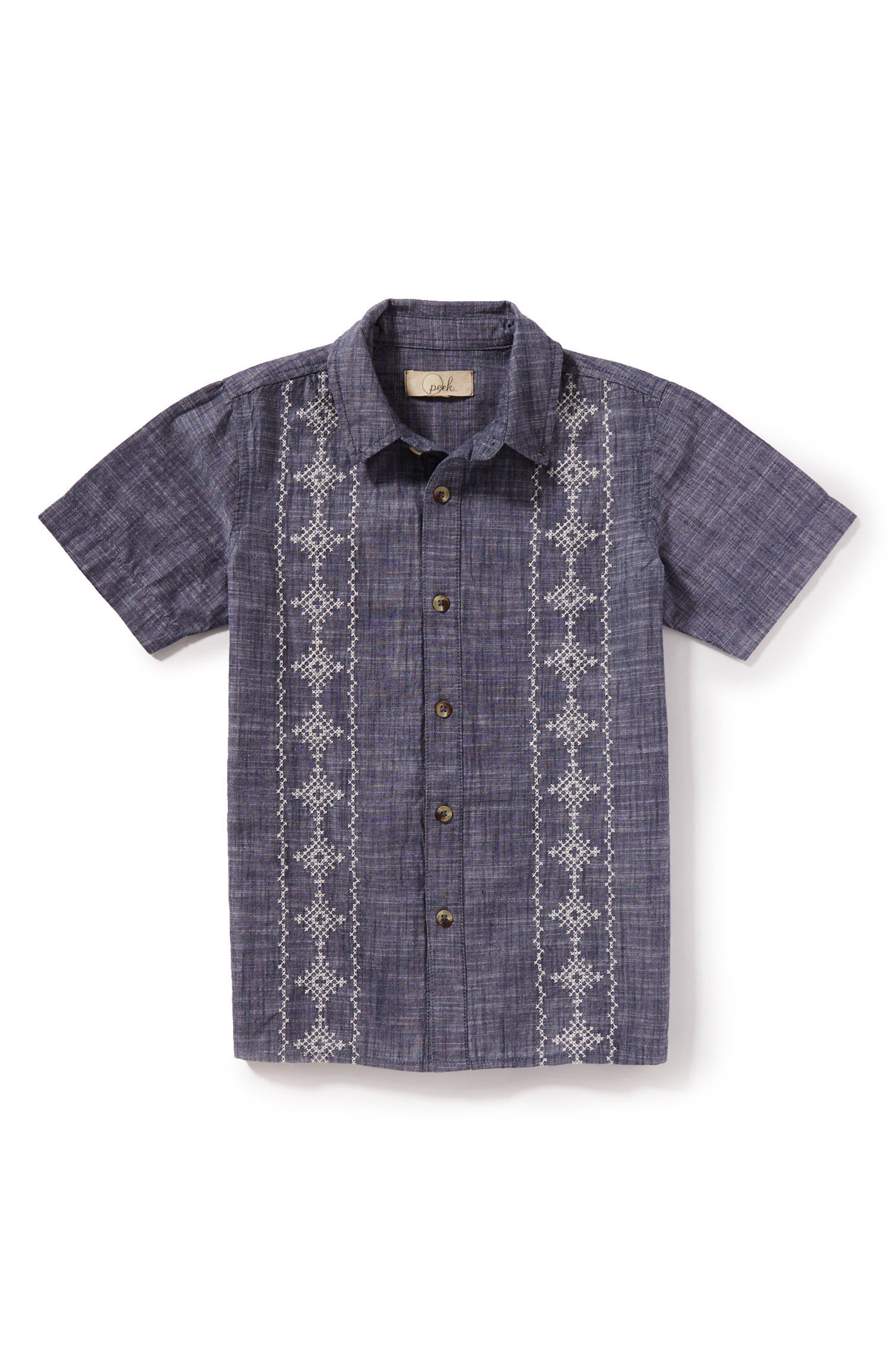 Cuba Woven Shirt,                         Main,                         color, Light Blue