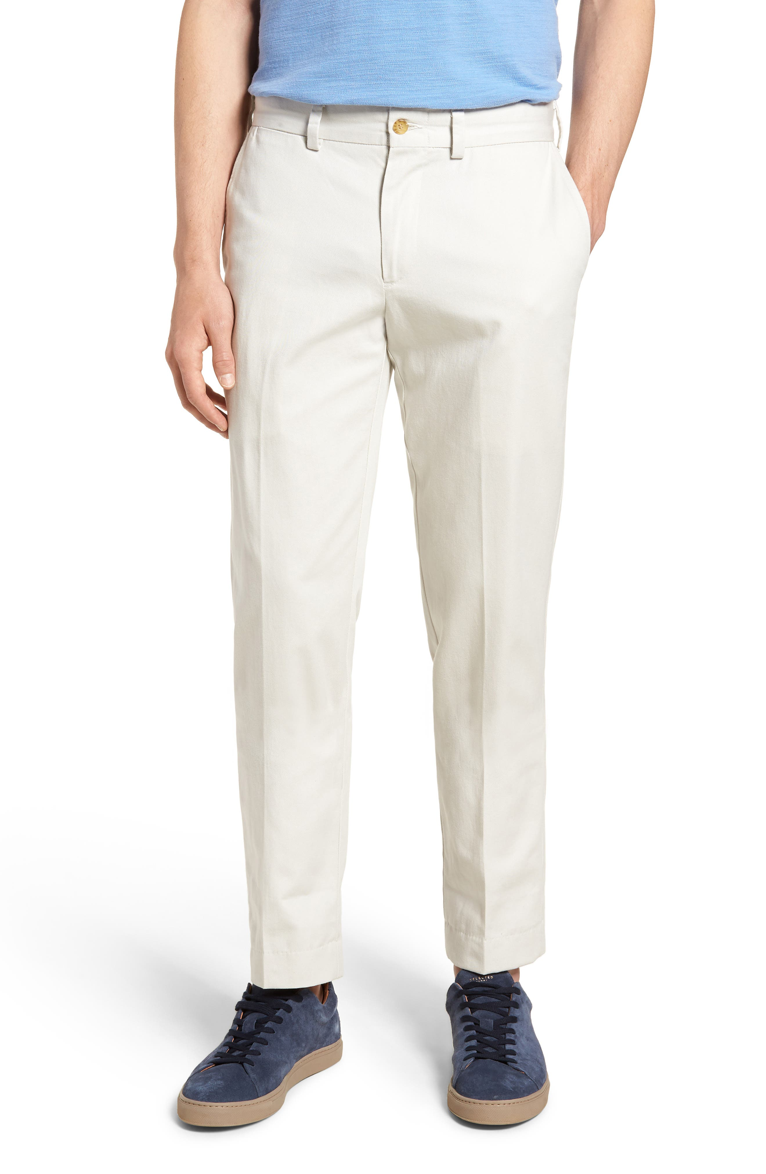 M3 Straight Fit Flat Front Vintage Twill Pants,                             Main thumbnail 1, color,                             Stone