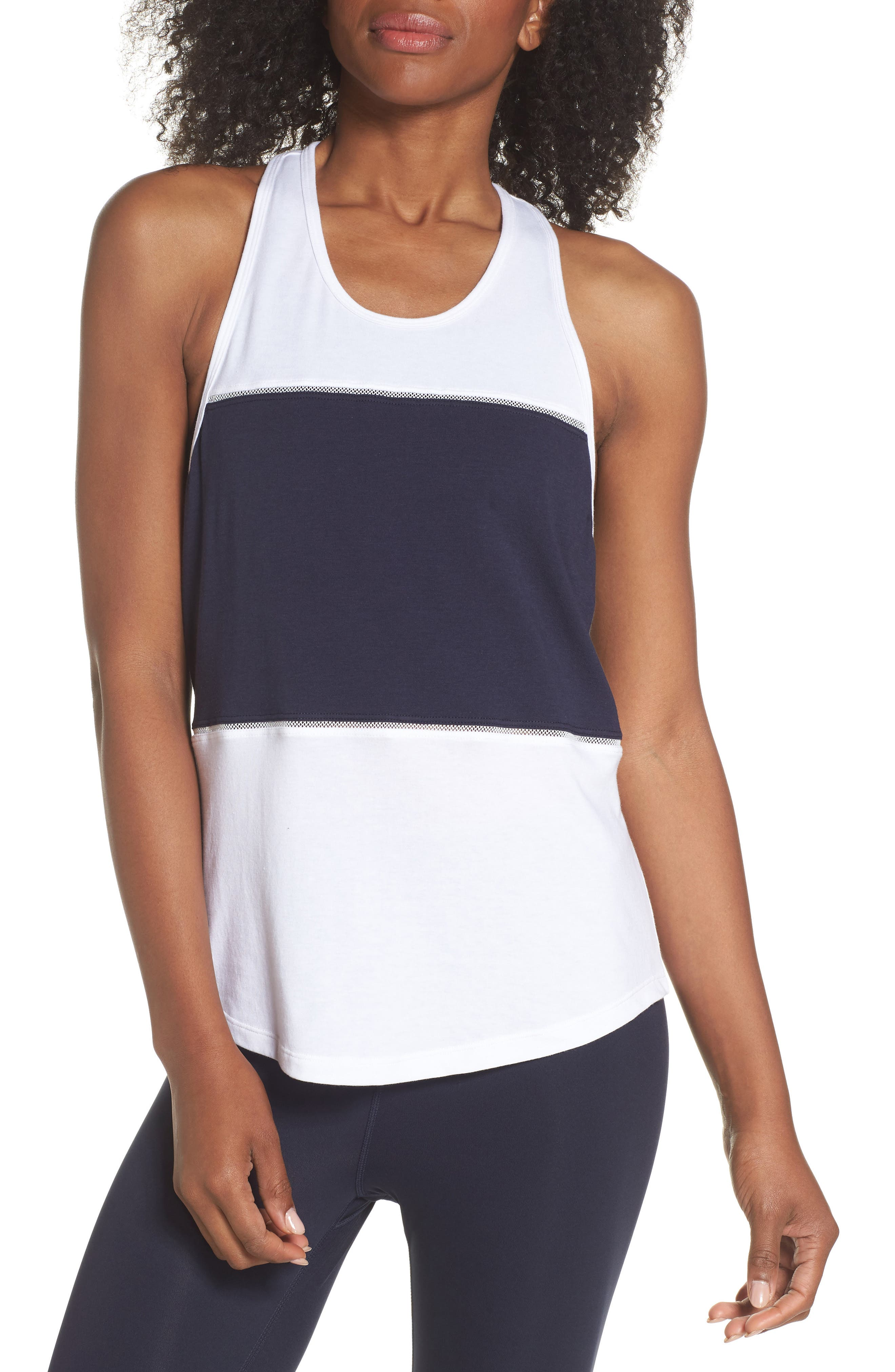 colorblock tank,                         Main,                         color, Rich Navy Multi
