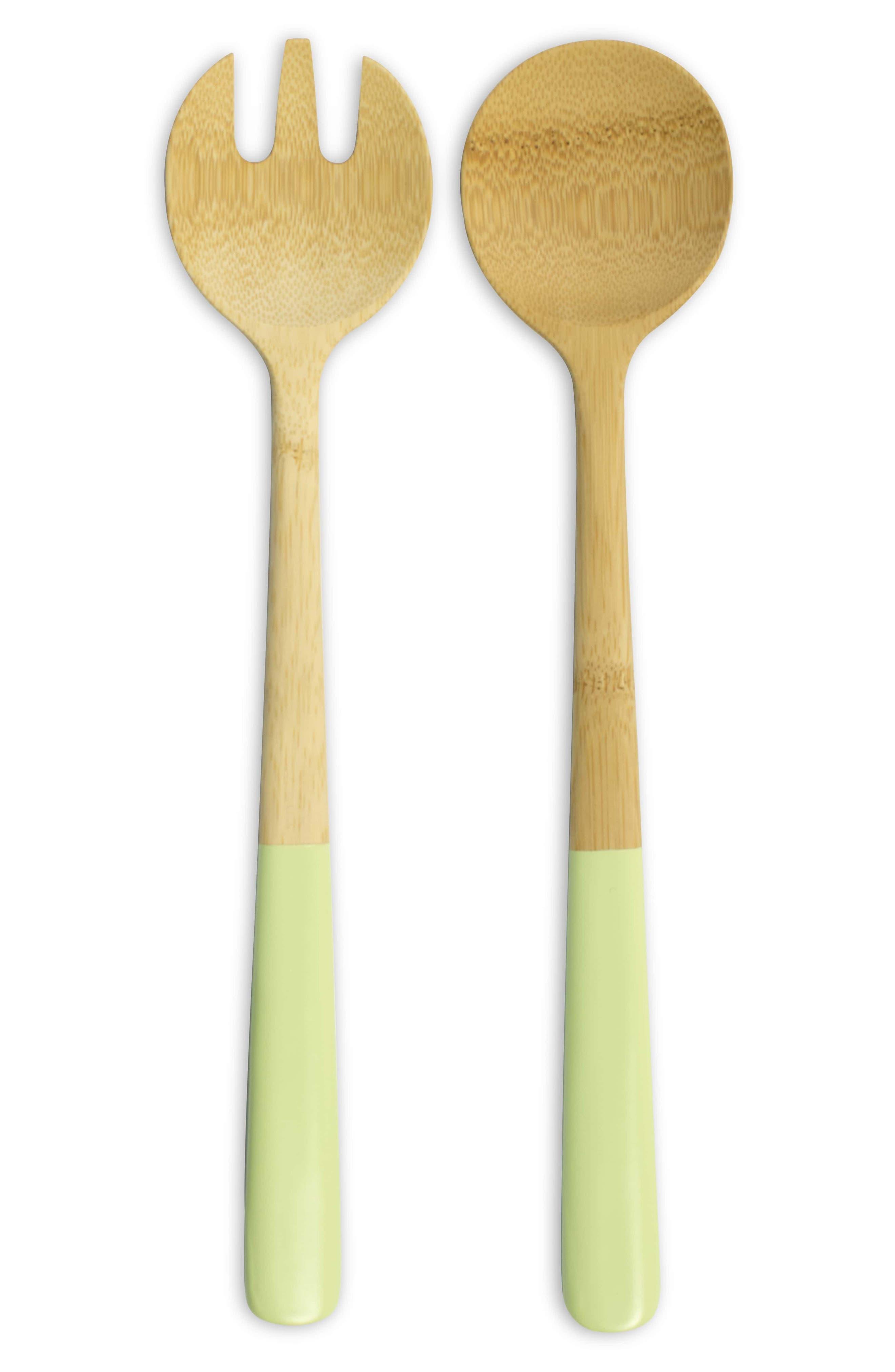 Bamboo Salad Servers,                             Alternate thumbnail 3, color,                             Pistachio Green