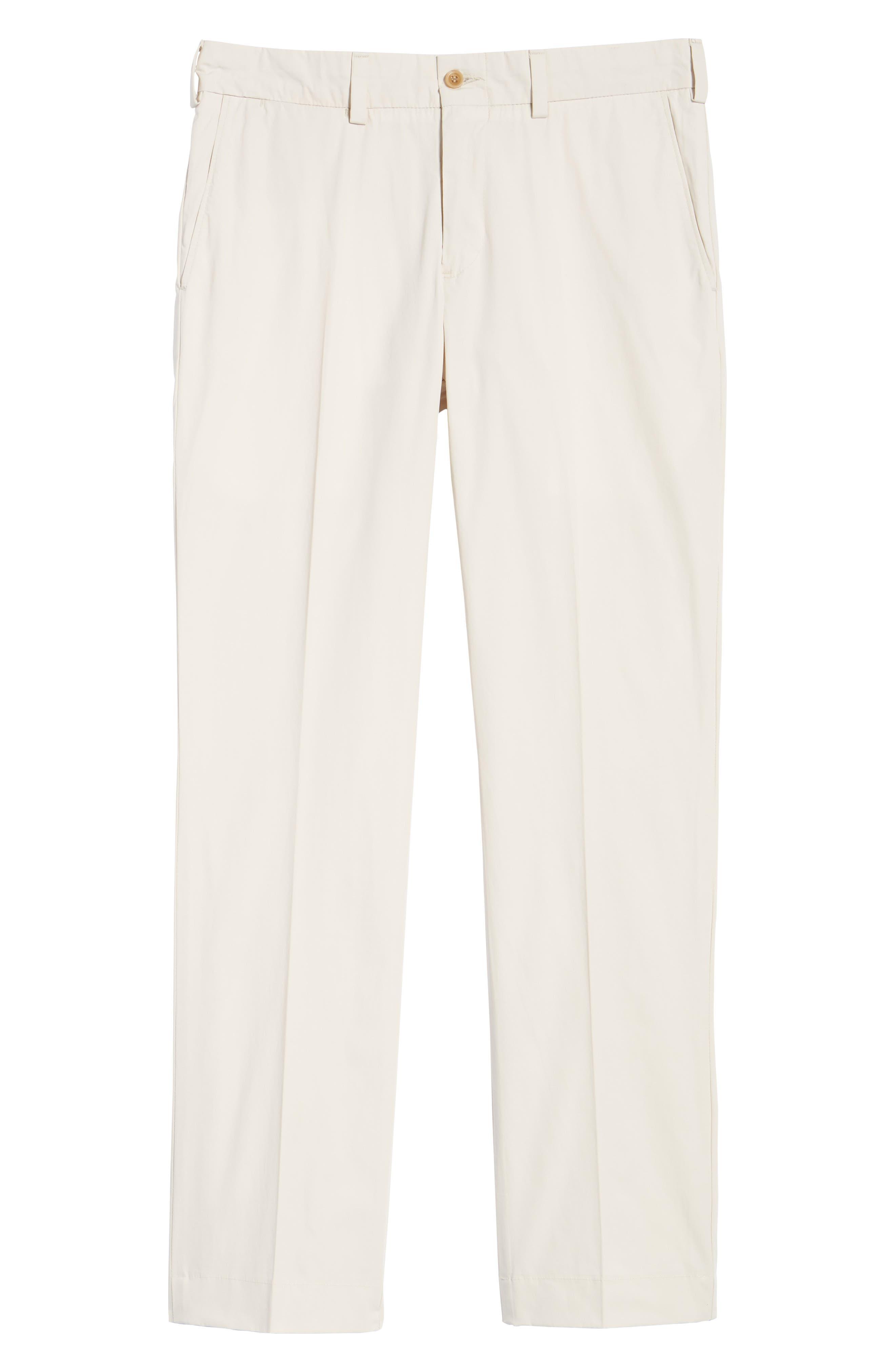 M3 Straight Fit Flat Front Tropical Poplin Pants,                             Alternate thumbnail 6, color,                             Sand