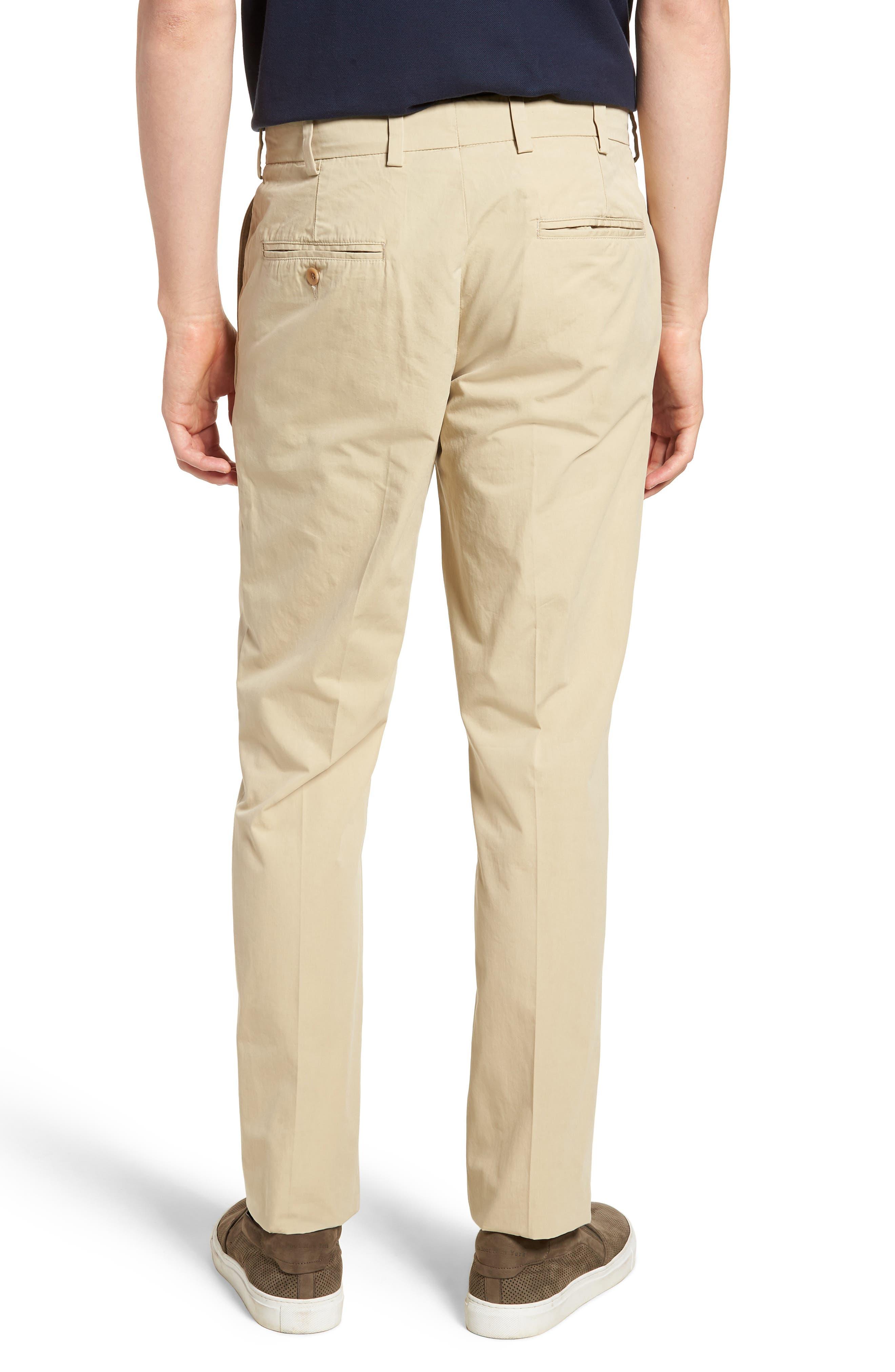 M3 Straight Fit Flat Front Tropical Poplin Pants,                             Alternate thumbnail 2, color,                             Khaki