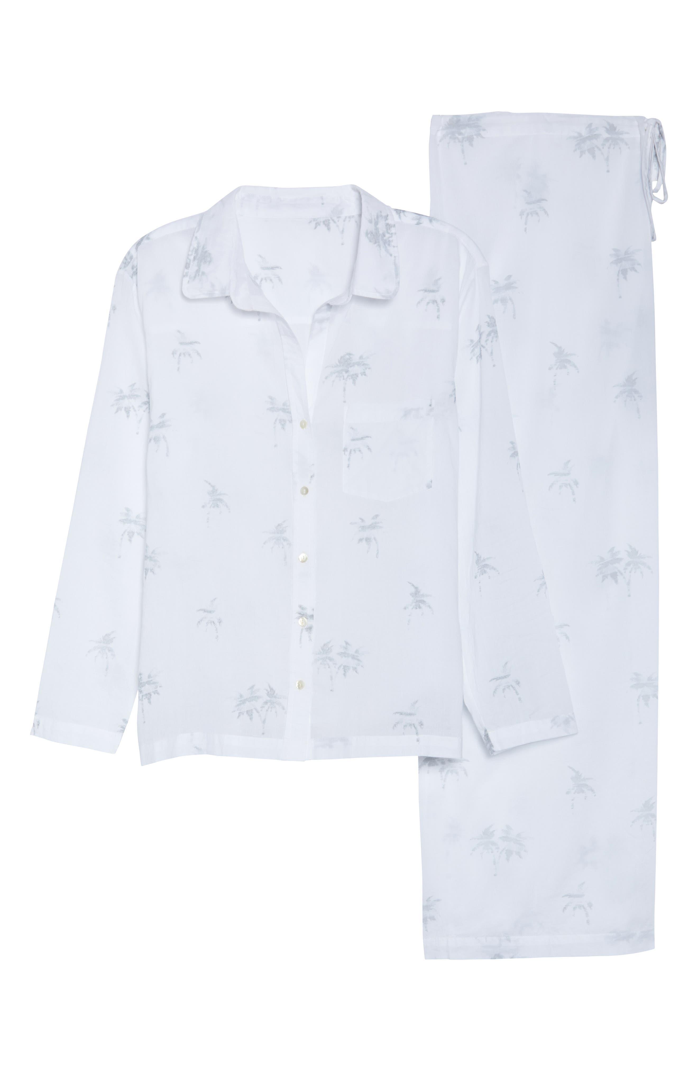 Palms Pajamas,                             Alternate thumbnail 4, color,                             Grey