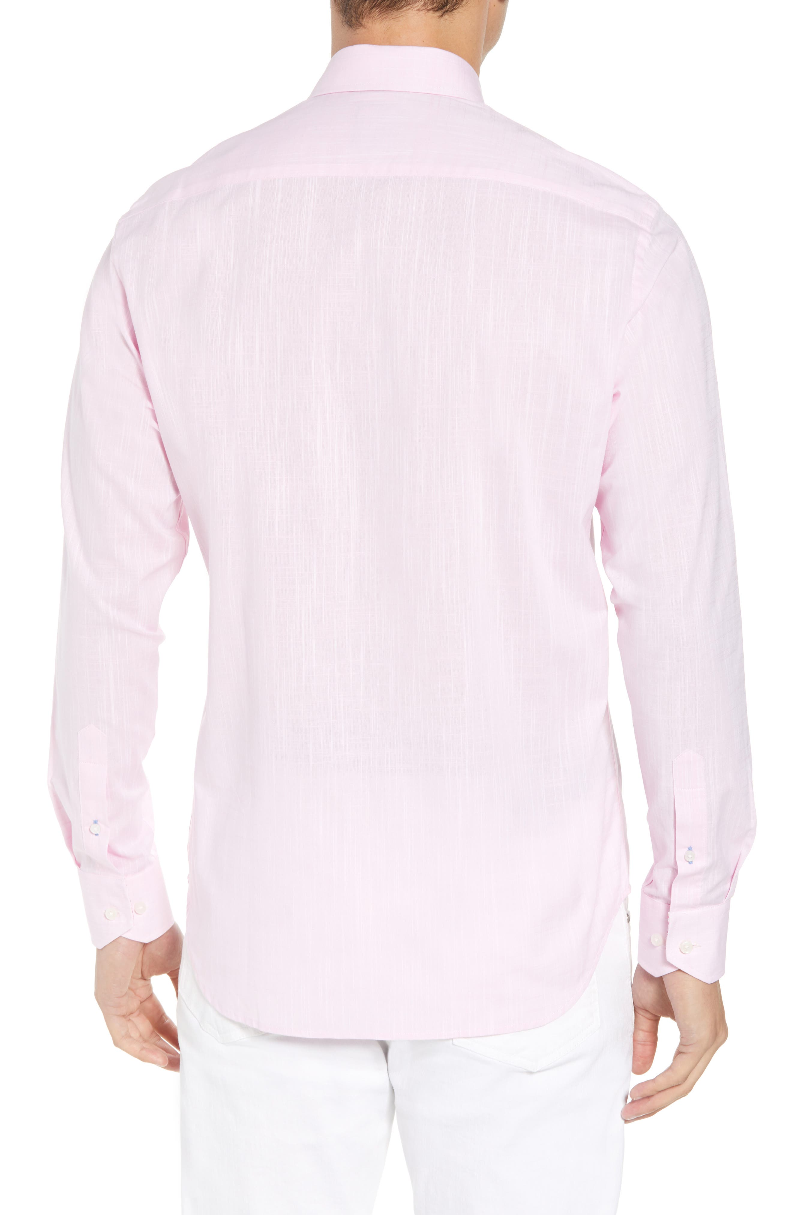 Kade Regular Fit Sport Shirt,                             Alternate thumbnail 3, color,                             Pink
