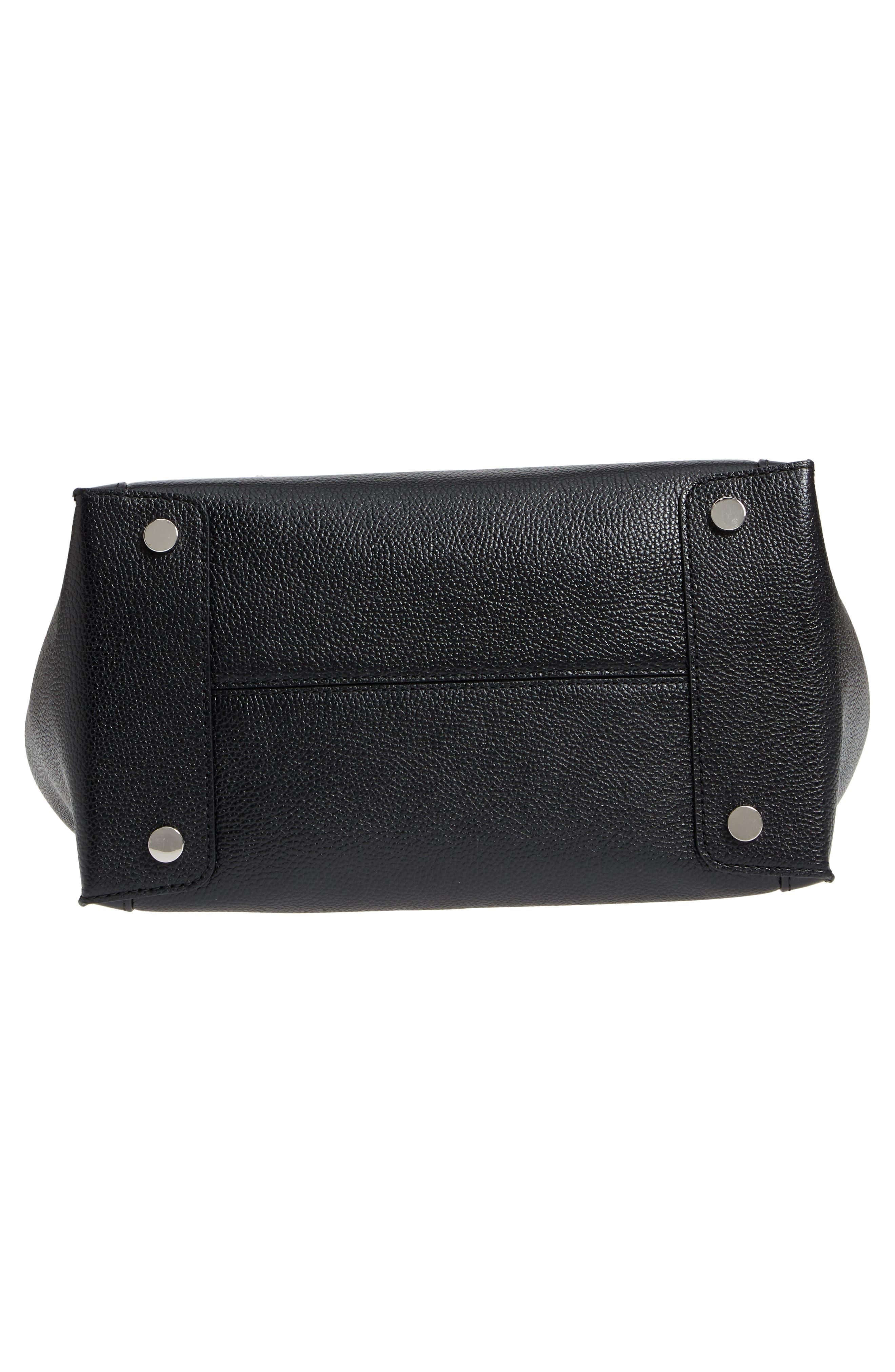 MICHAEL Michael Kors Mercer Studio Leather Tote,                             Alternate thumbnail 6, color,                             Black