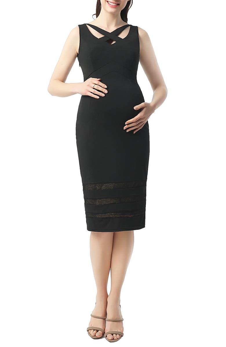 Valerie Midi Body-Con Maternity Dress