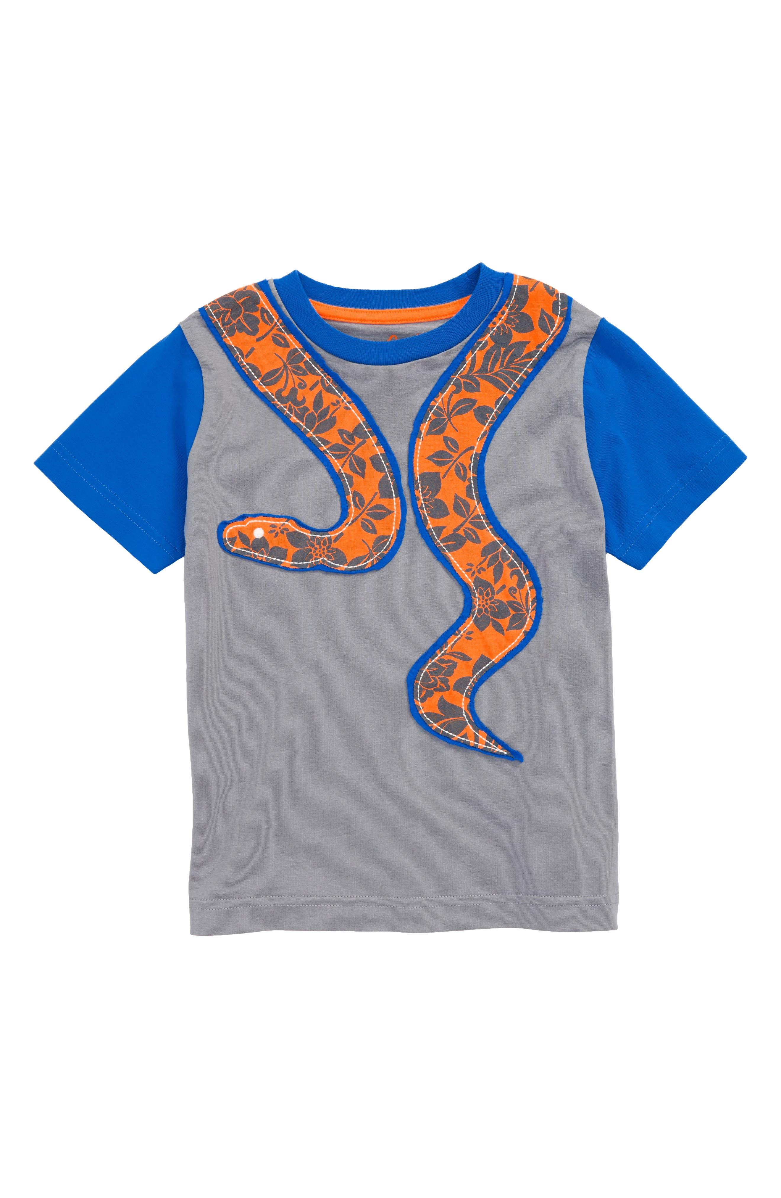 Snake Patchwork T-Shirt,                             Main thumbnail 1, color,                             Raft Grey Snake