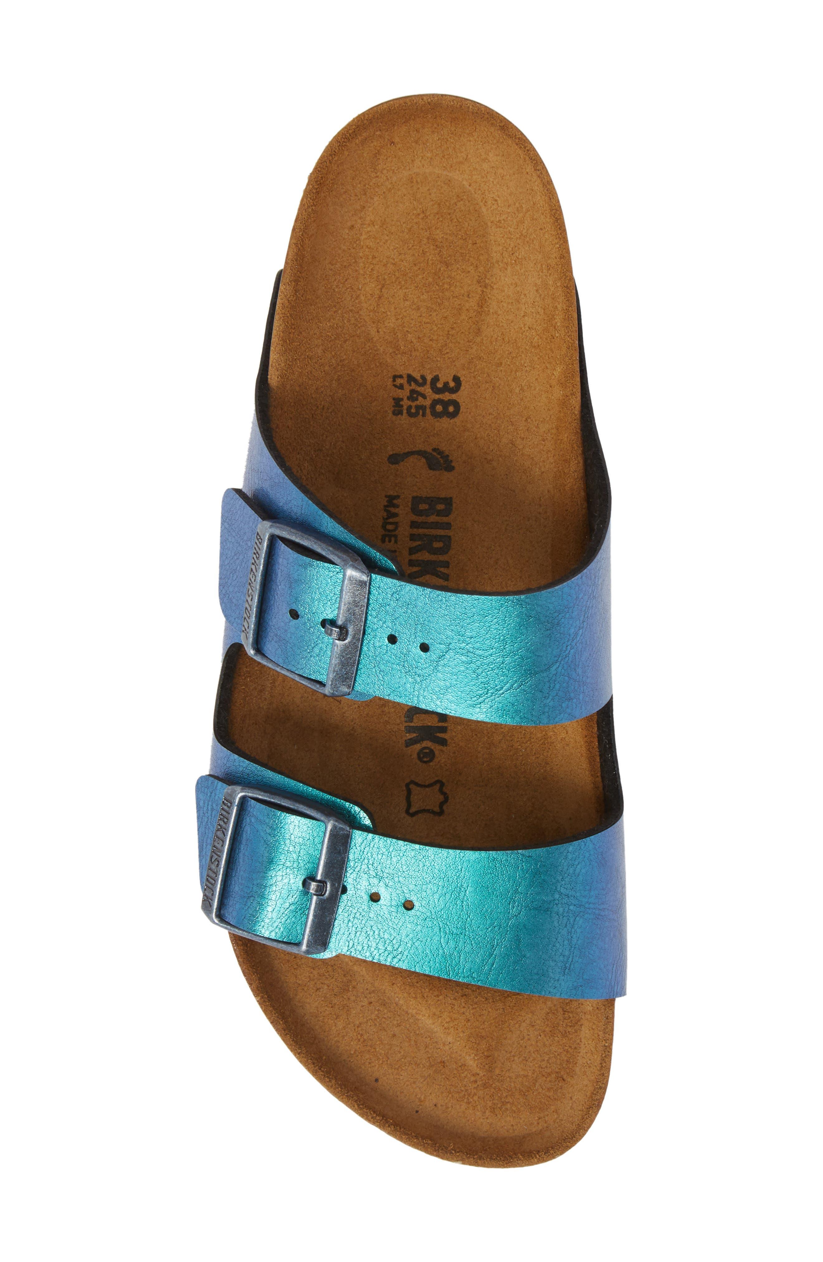 Arizona Graceful Birko-Flor<sup>™</sup> Sandal,                             Alternate thumbnail 5, color,                             Blue