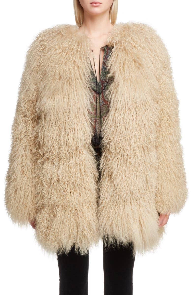 Genuine Mongolian Goat Fur Jacket