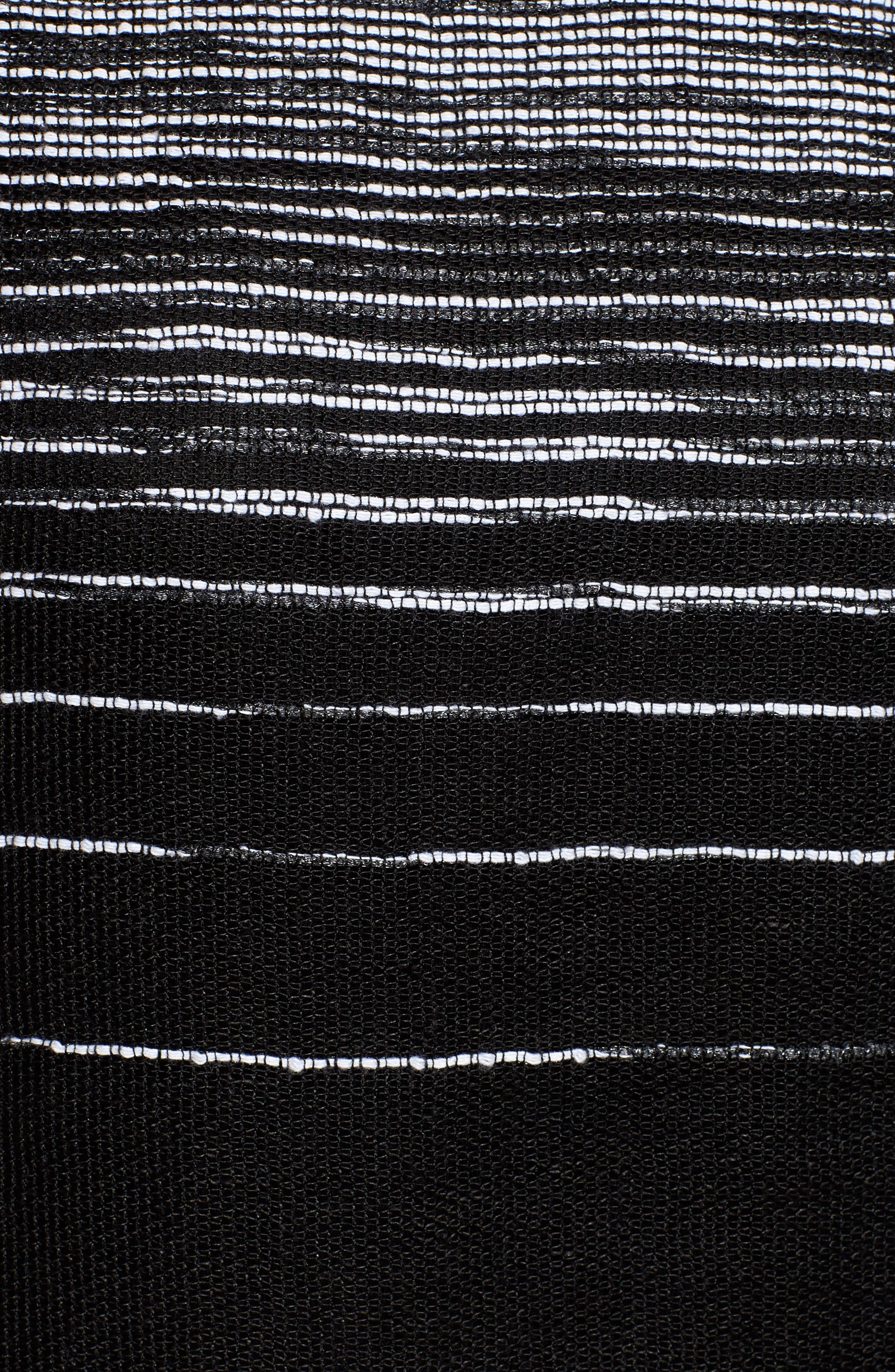 Organic Linen Blend Top,                             Alternate thumbnail 5, color,                             Black