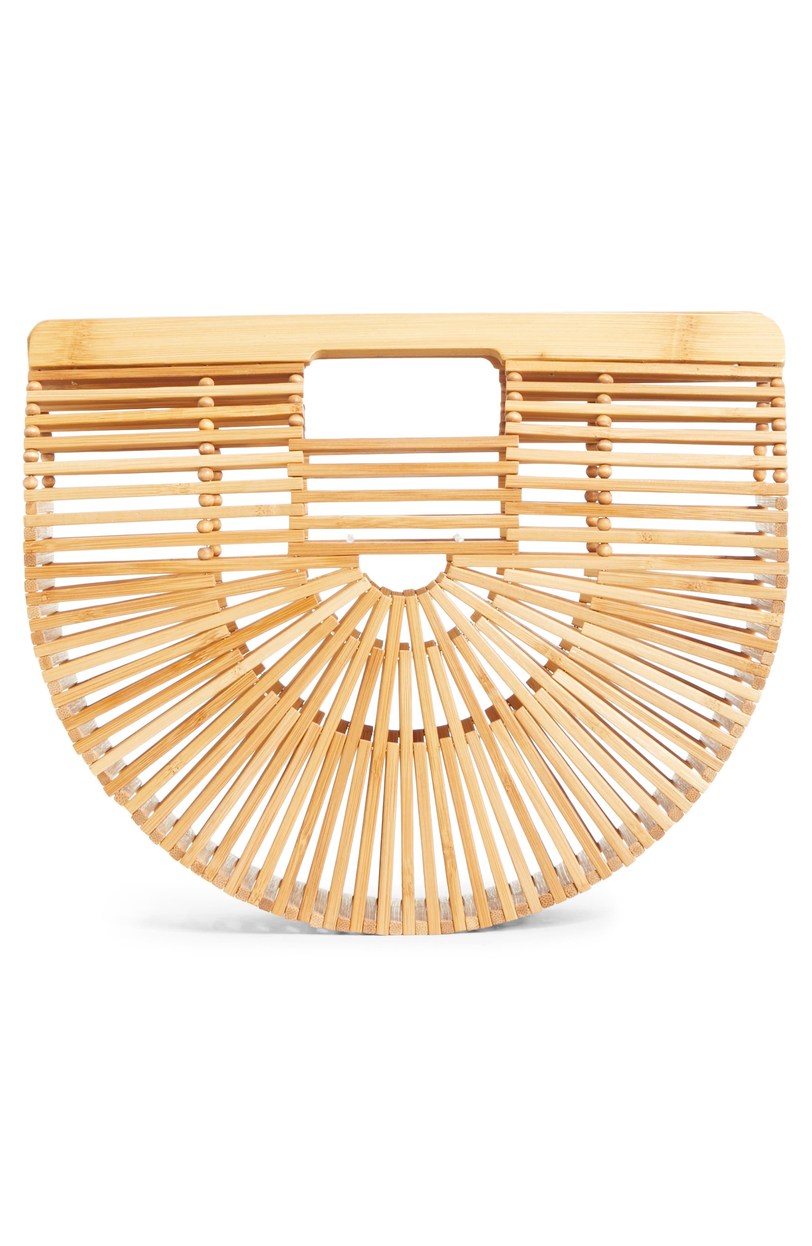 Small Ark Bamboo Handbag,                             Alternate thumbnail 3, color,                             Bamboo