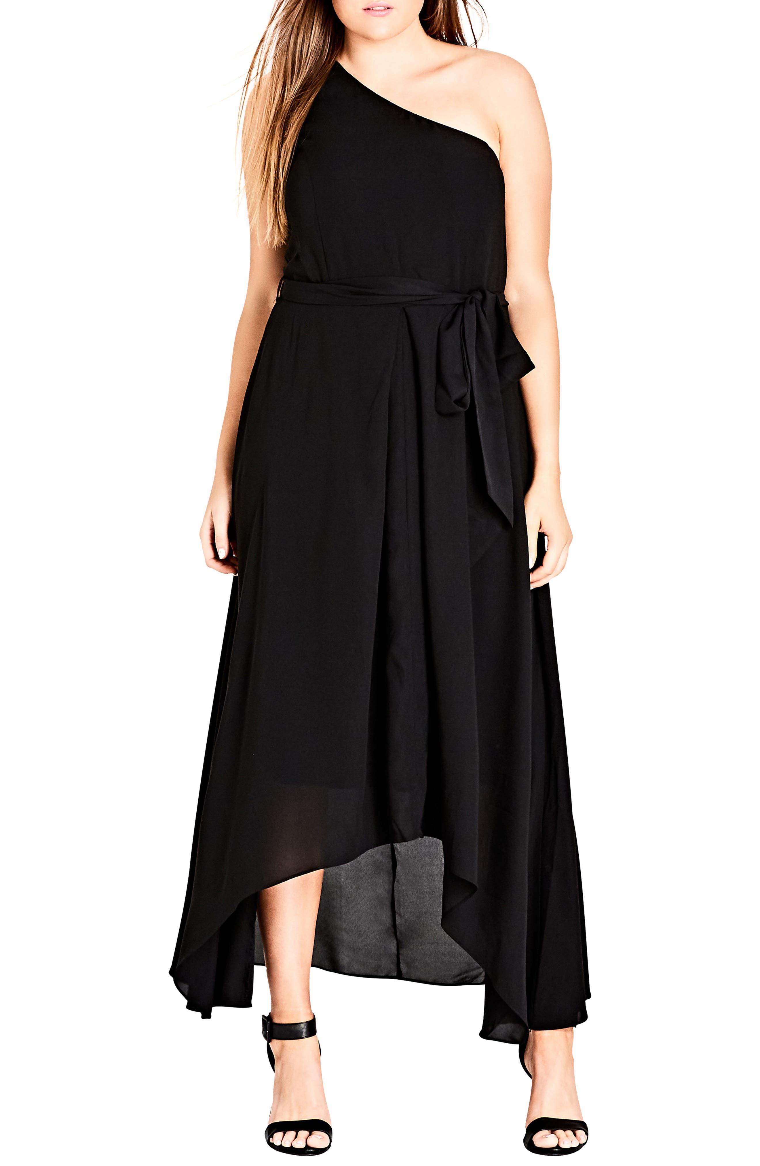One Love Maxi Dress,                             Main thumbnail 1, color,                             Black