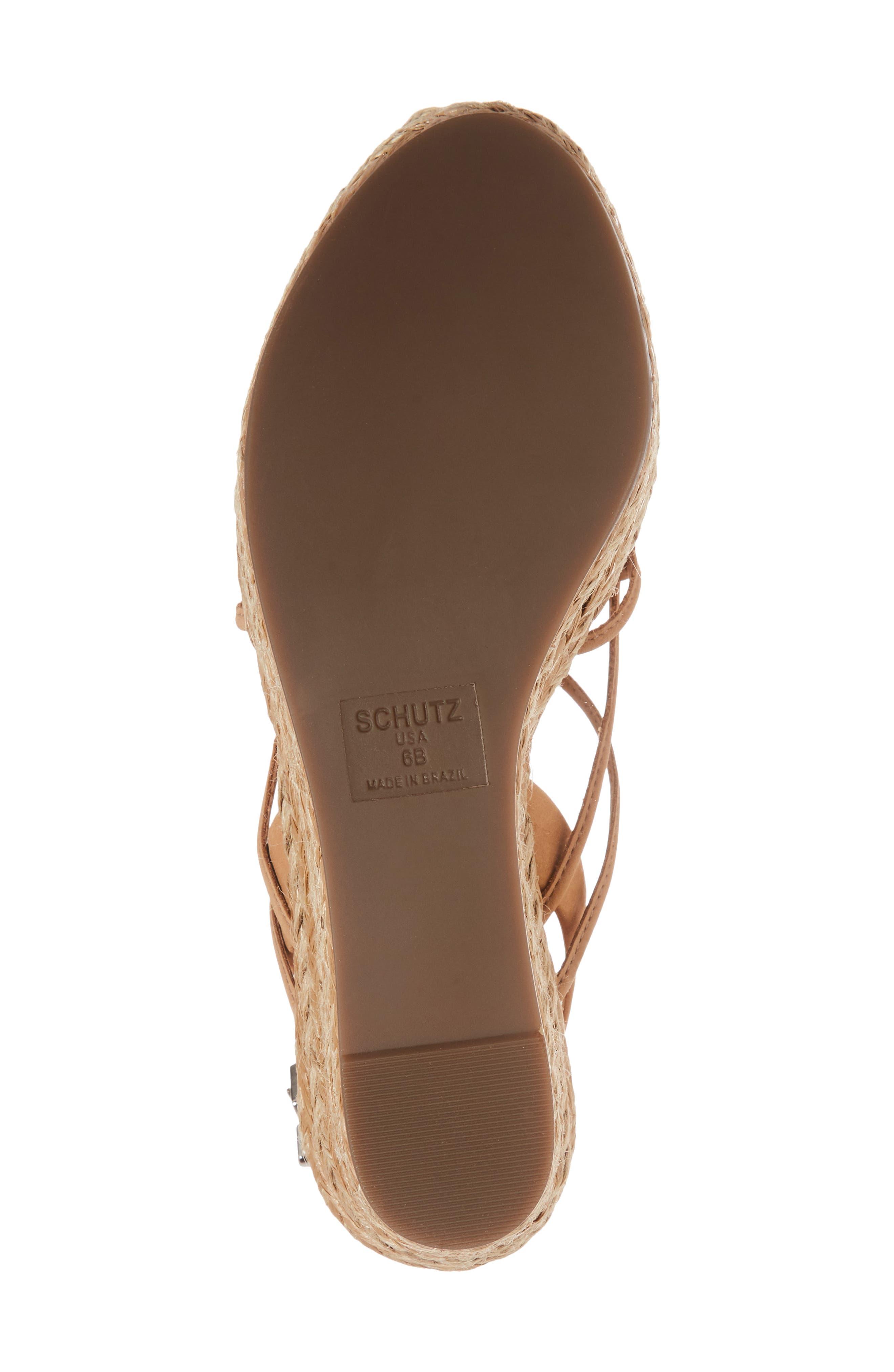 Latussa Platform Espadrille Sandal,                             Alternate thumbnail 6, color,                             Desert Leather