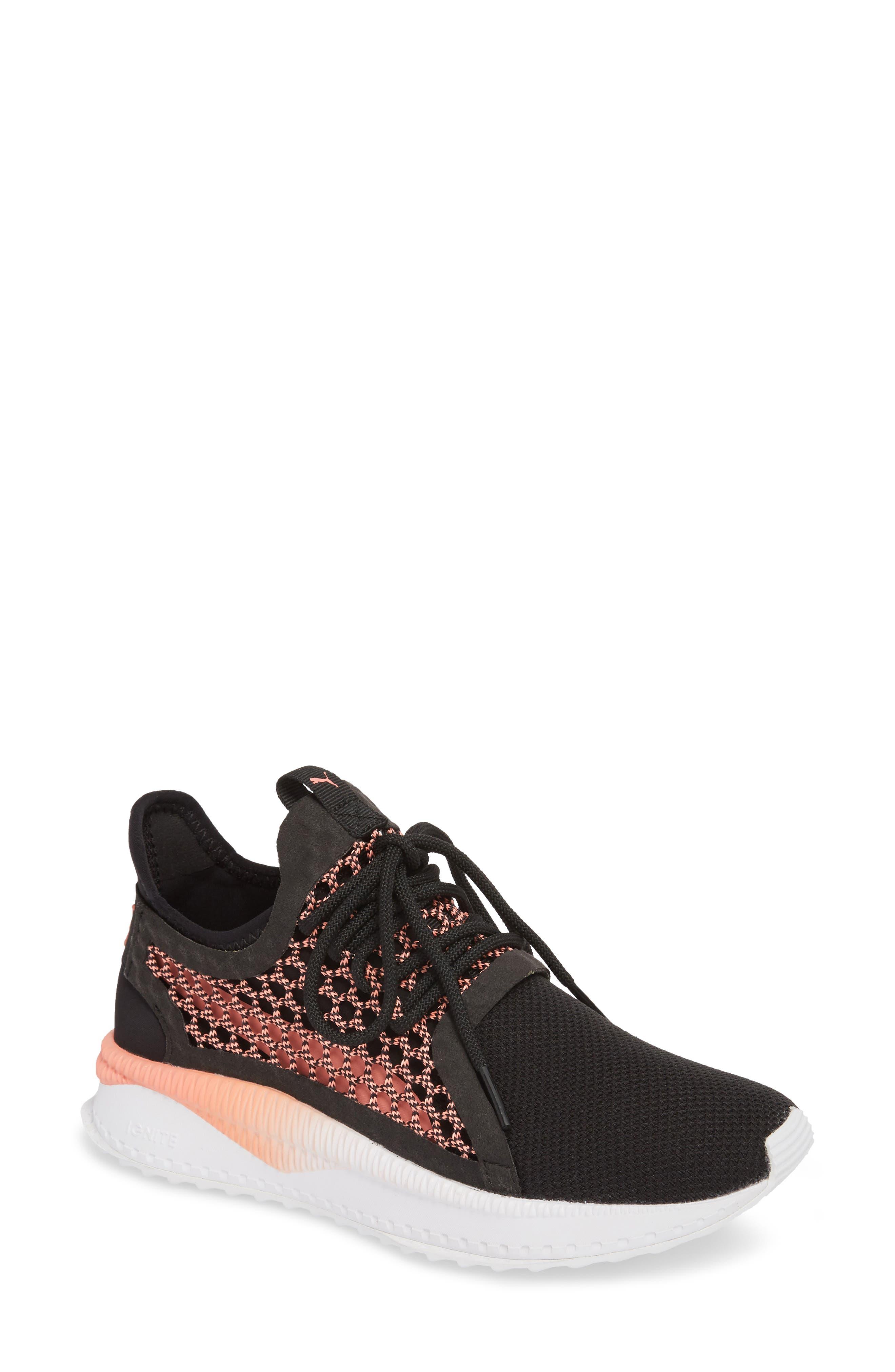 Tsugi Netfit evoKNIT Training Shoe,                             Main thumbnail 1, color,                             Black/ Shell Pink/ White