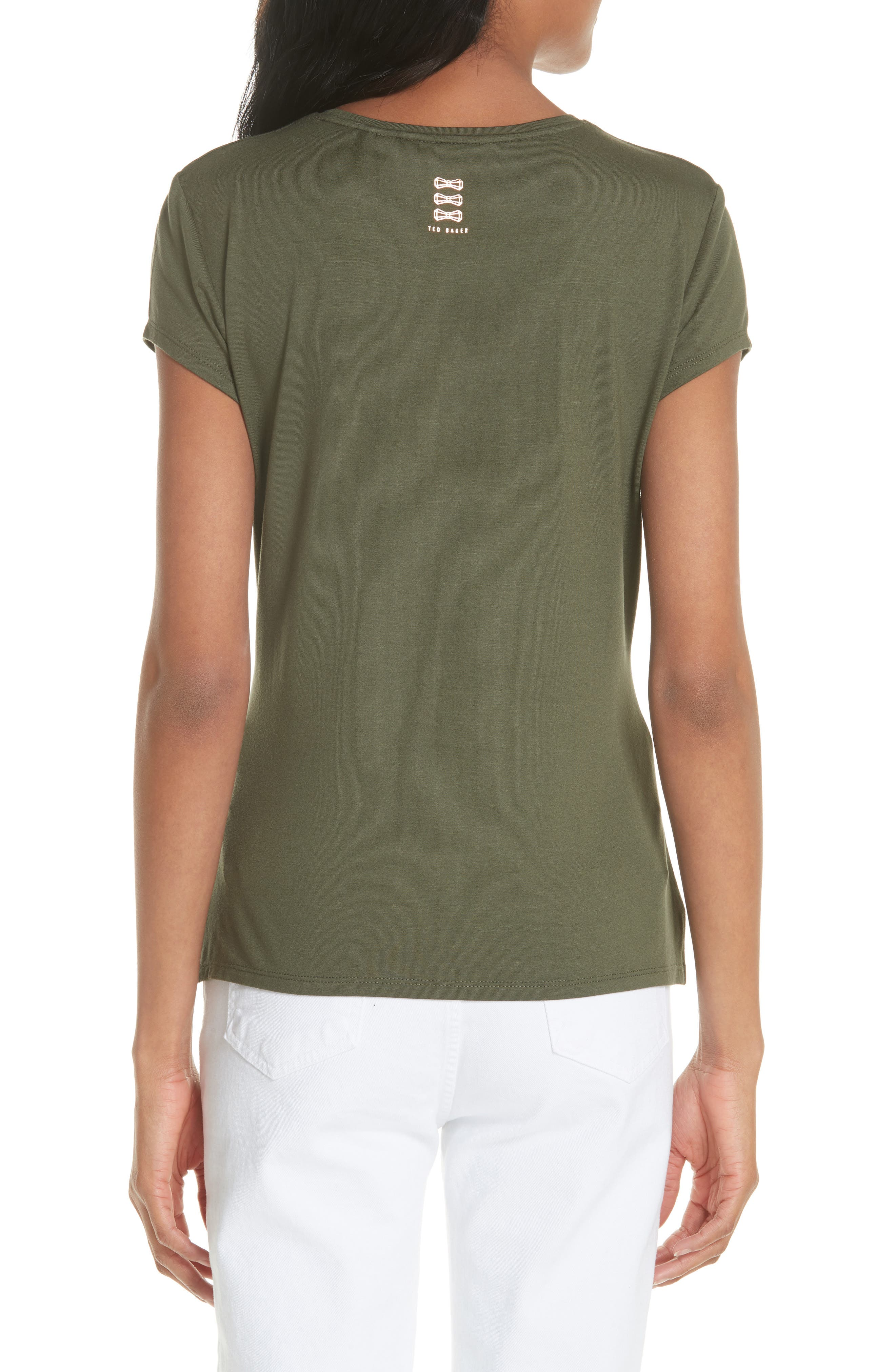Drop Ted Gorgeous Fitted Tee,                             Alternate thumbnail 2, color,                             Khaki