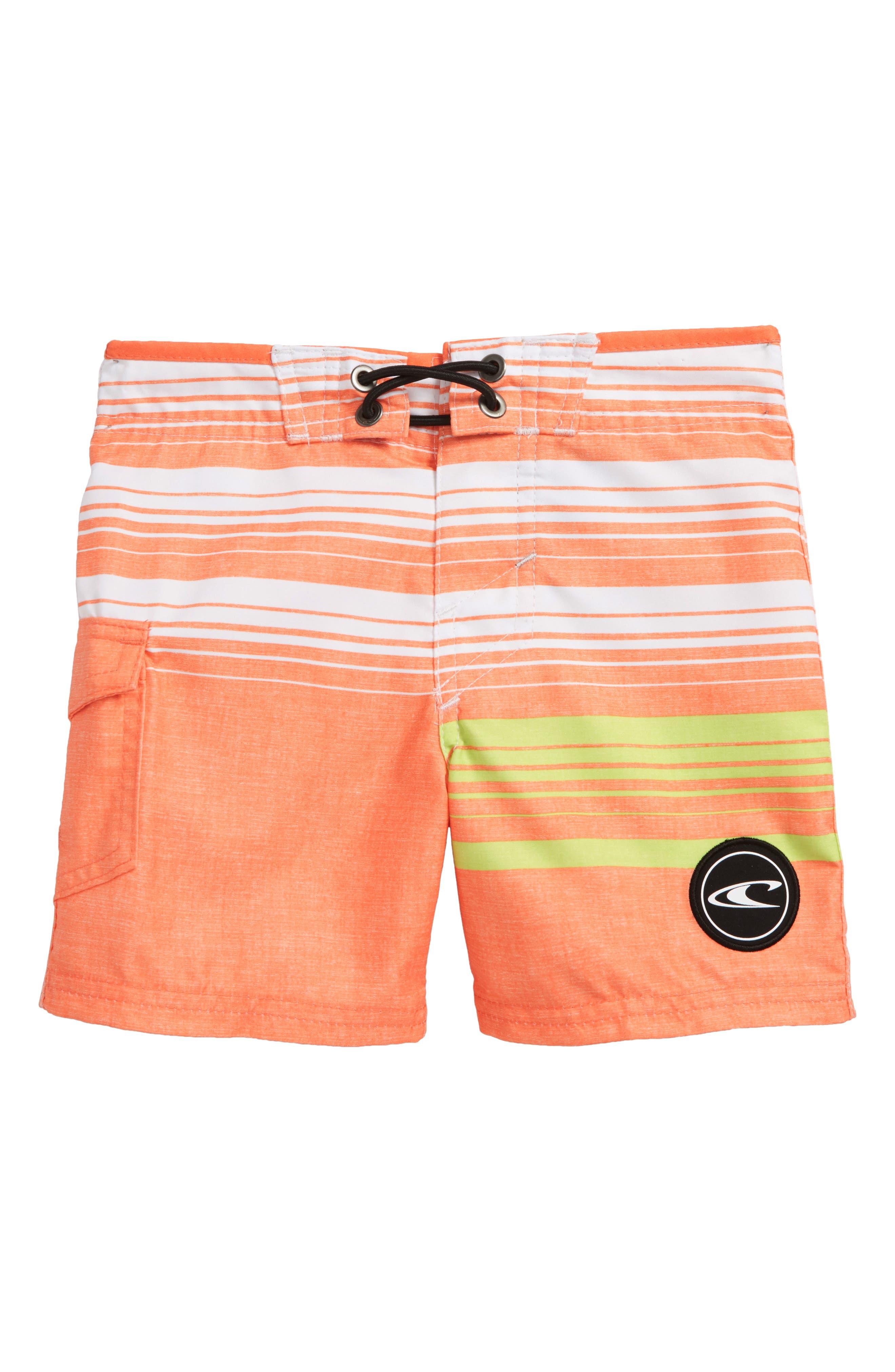 Bennett Board Shorts,                         Main,                         color, Orange