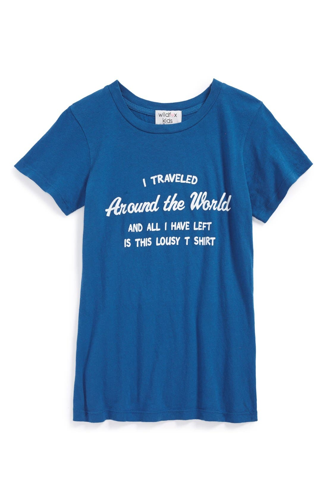 Main Image - Wildfox 'Around the World' Graphic Cotton Tee (Big Girls)