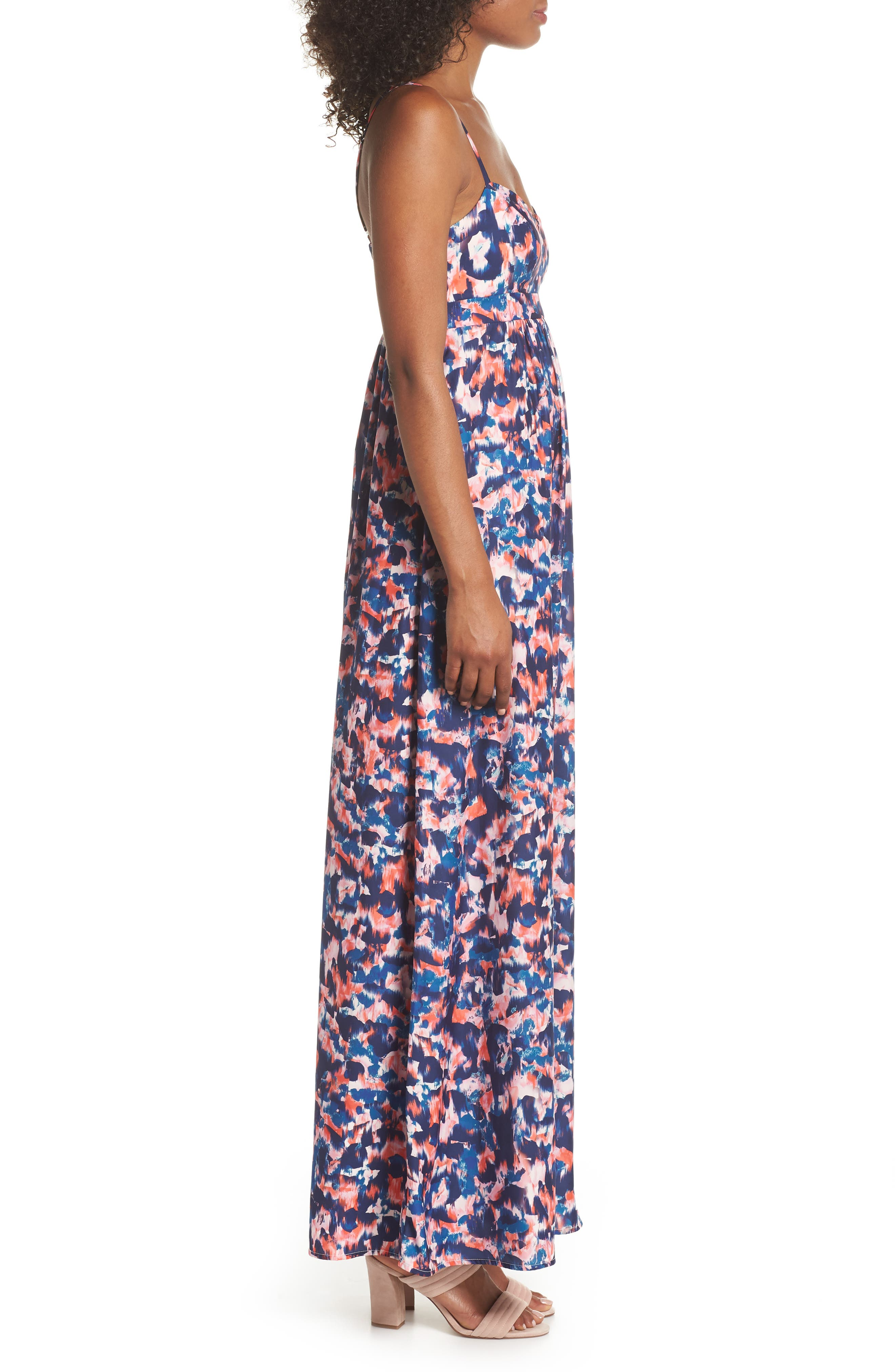 Colby Woven Maxi Dress,                             Alternate thumbnail 3, color,                             Yucatan Nights