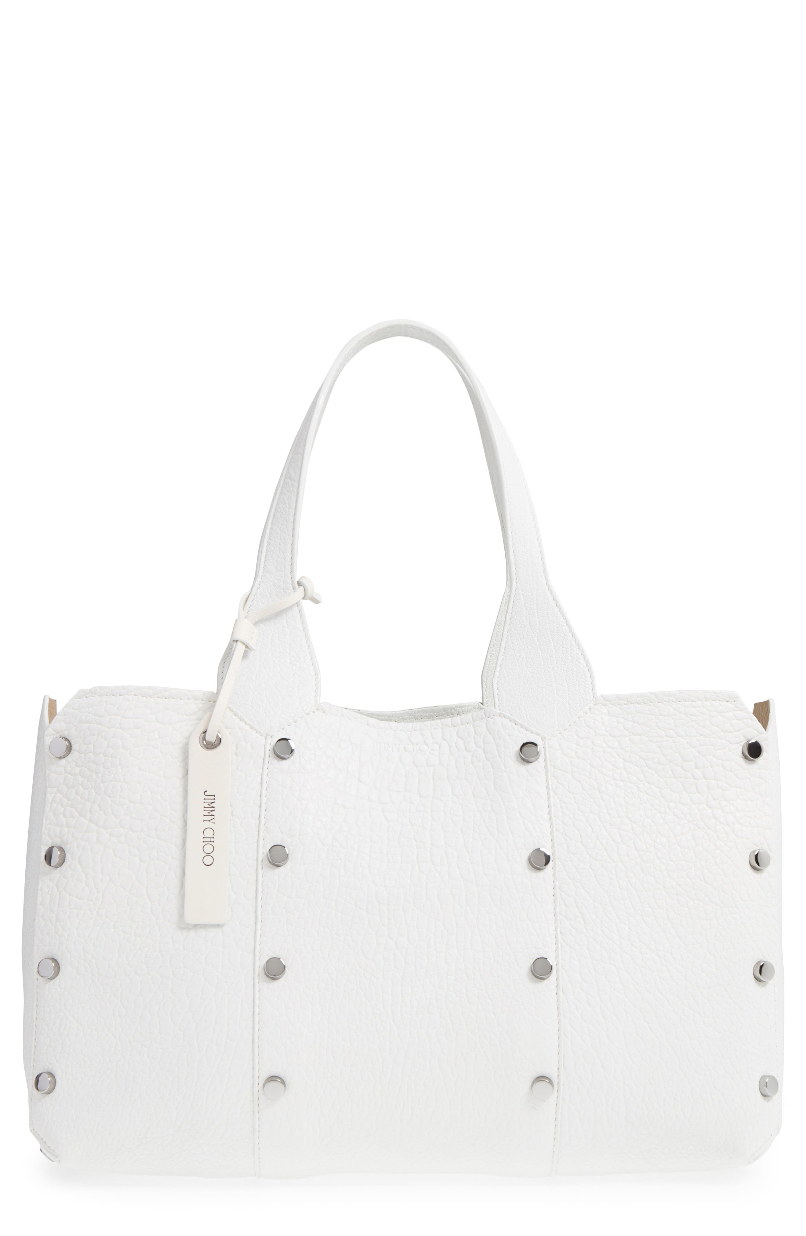 Alternate Image 1 Selected - Jimmy Choo Lockett Leather Shopper