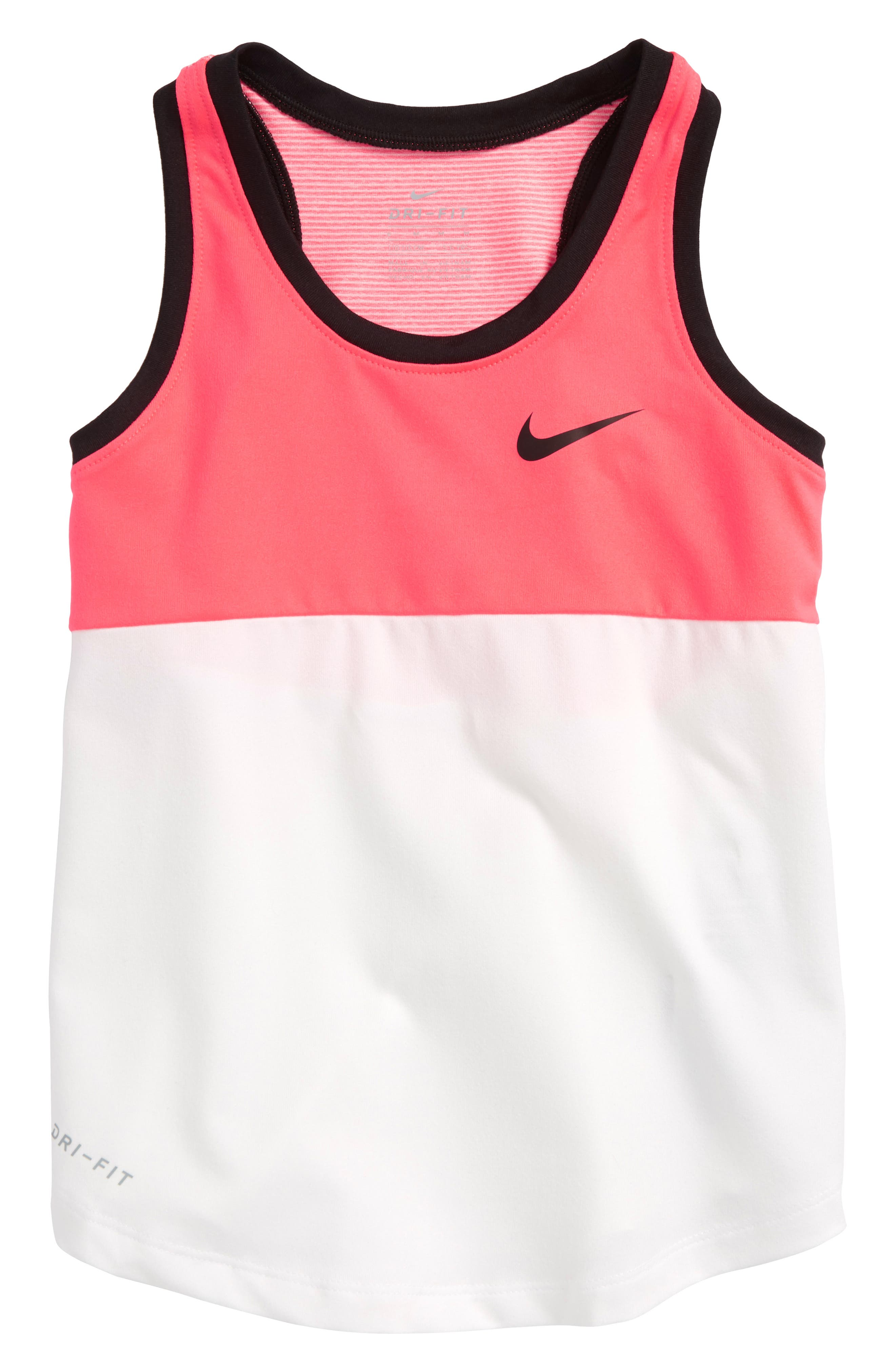 Colorblock Dry Tank,                         Main,                         color, Racer Pink