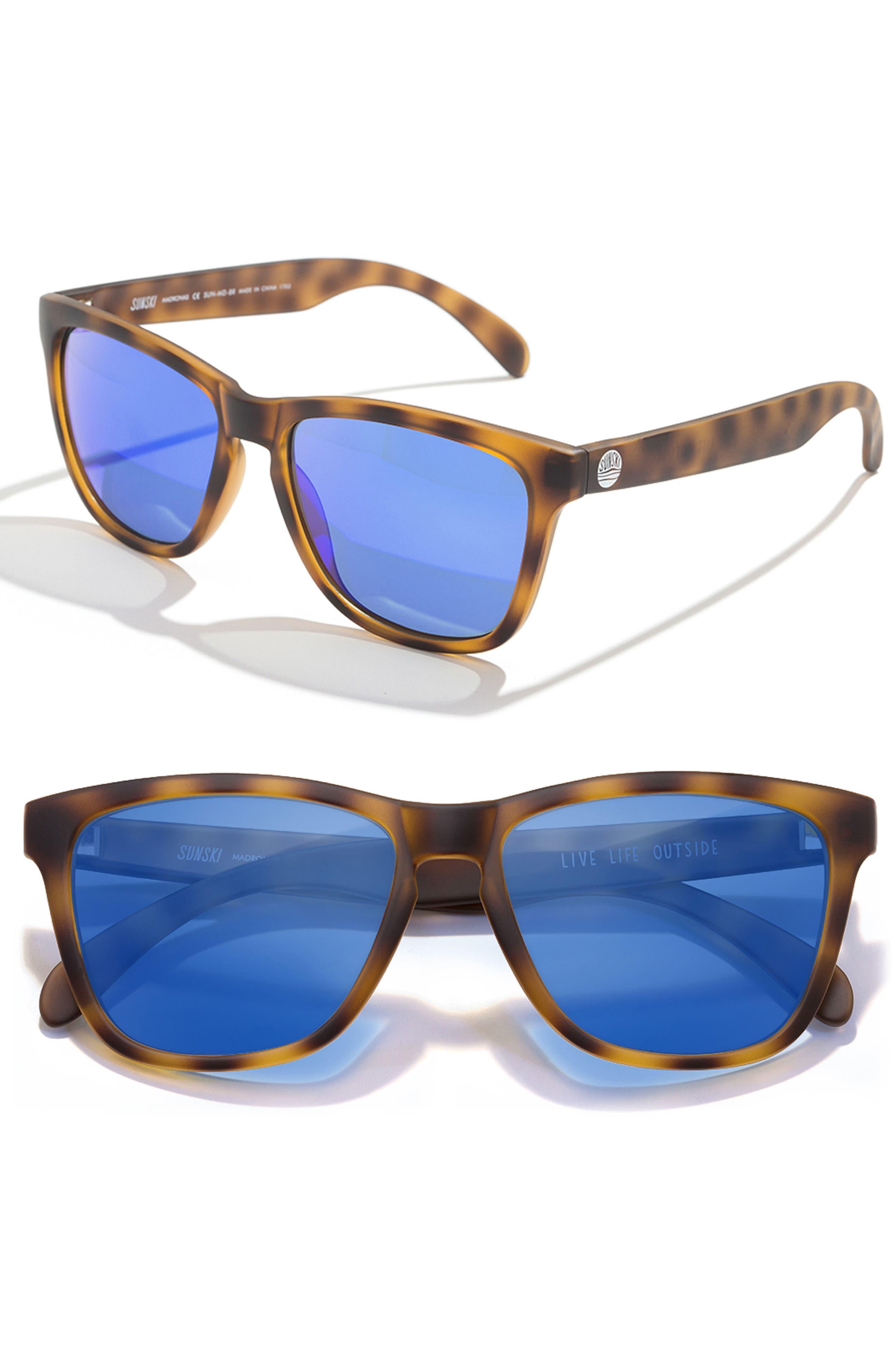 Madrona 53mm Polarized Sunglasses,                         Main,                         color, Tortoise/Blue