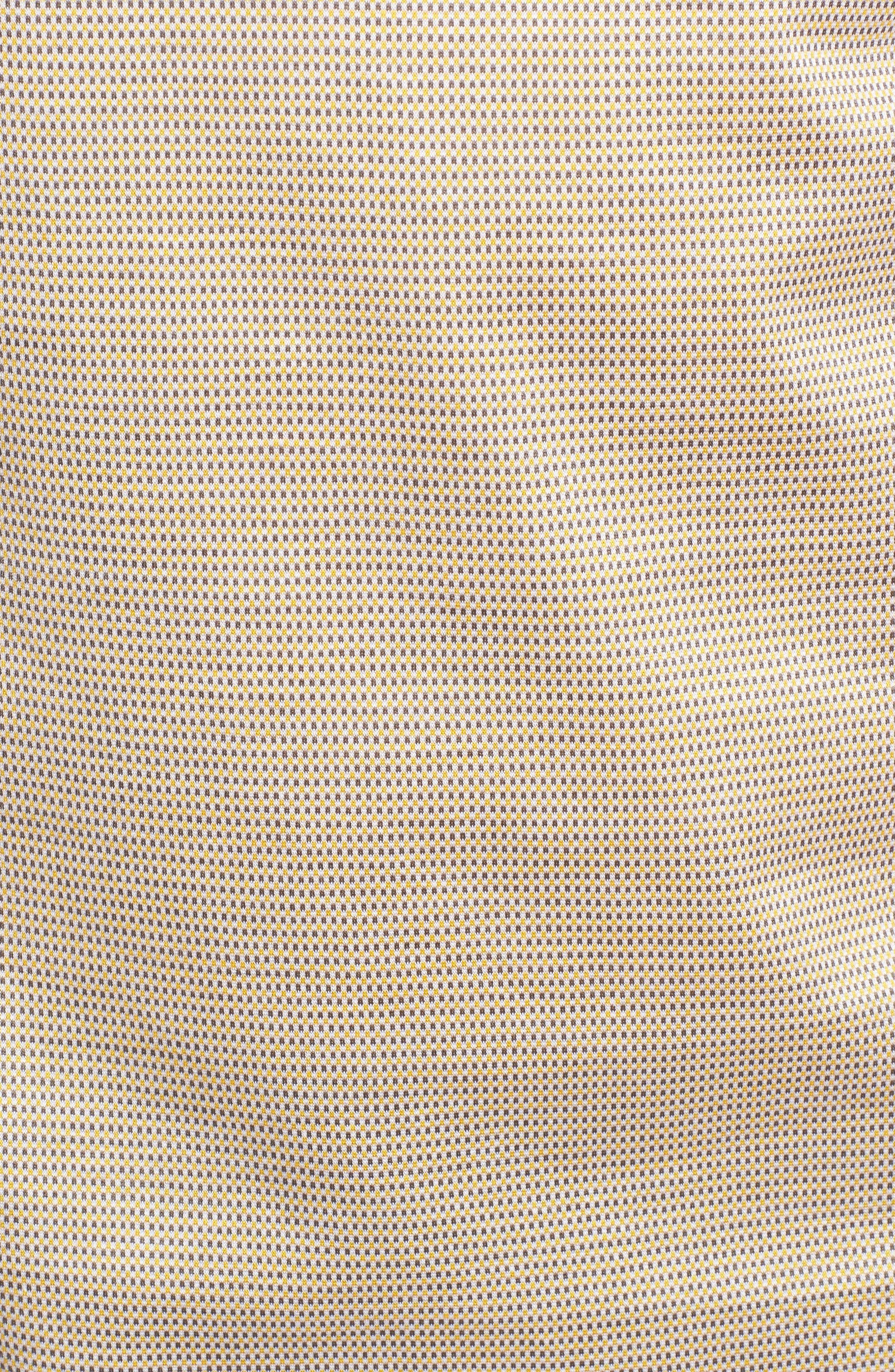 Dot Mercerized Cotton Polo,                             Alternate thumbnail 5, color,                             Sun