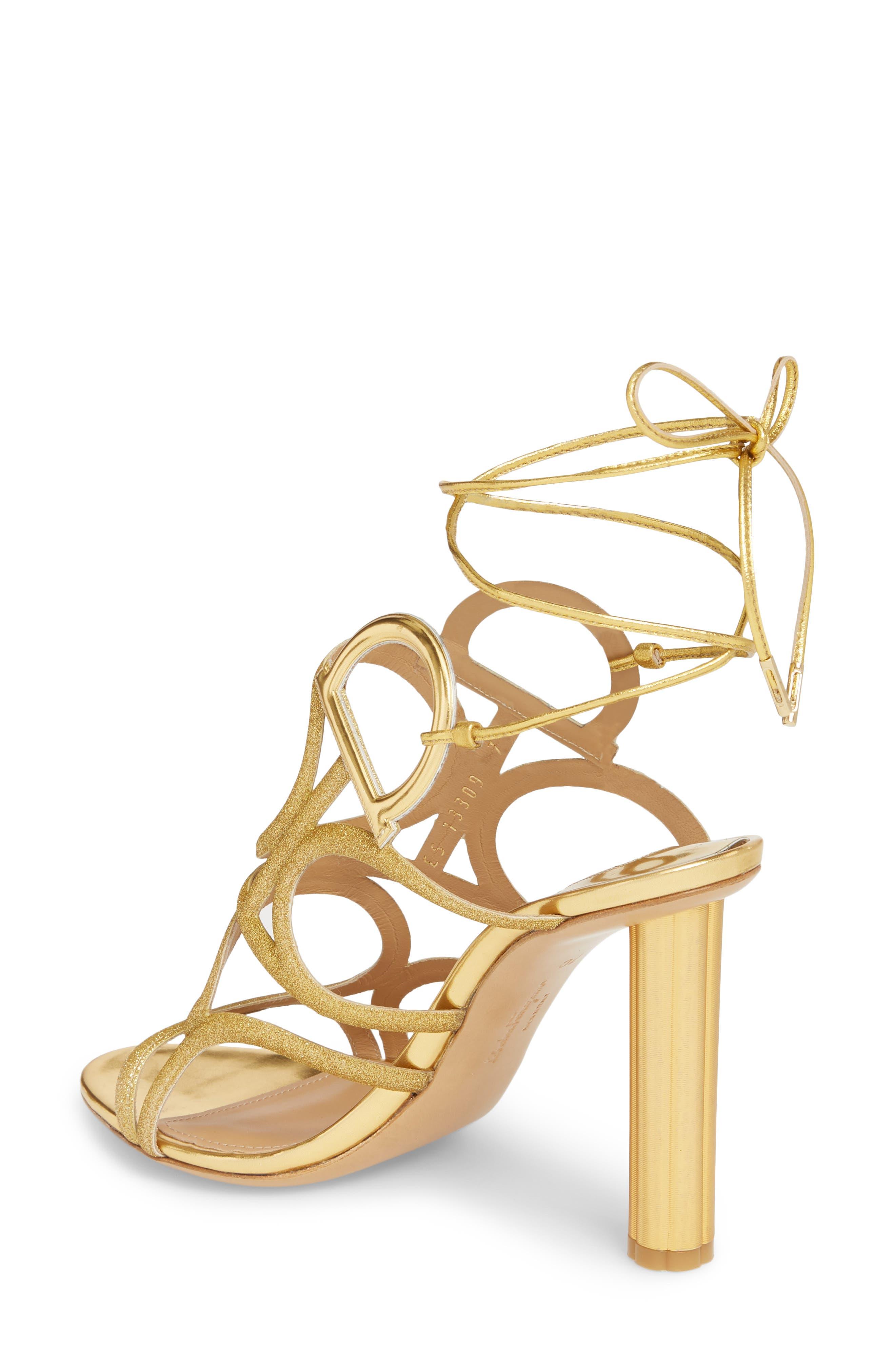 Vinci Lace-Up Sandal,                             Alternate thumbnail 2, color,                             Gold