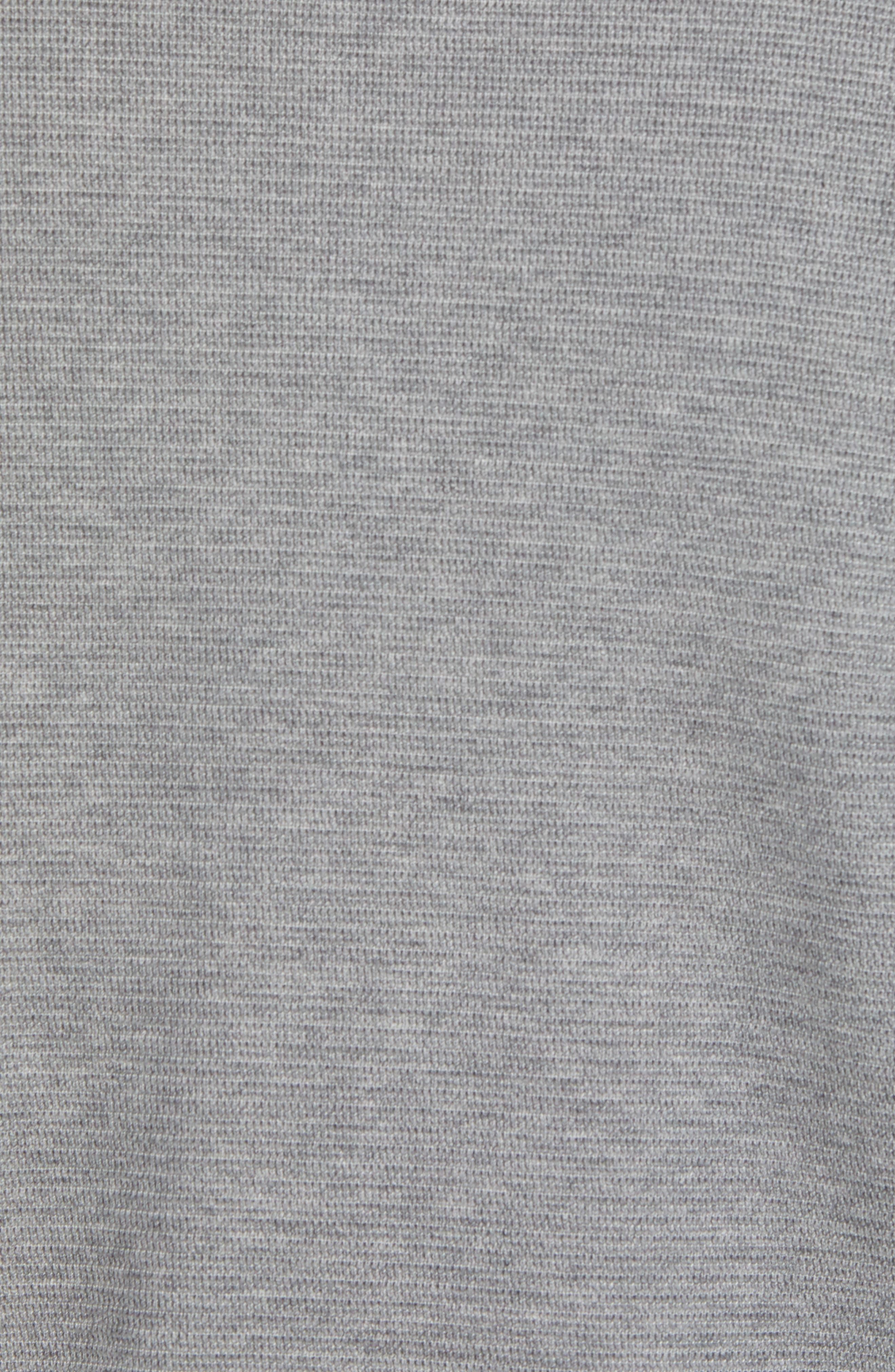 Hugo Boss Regular Fit Sidney Quarter Zip Pullover,                             Alternate thumbnail 5, color,                             Grey