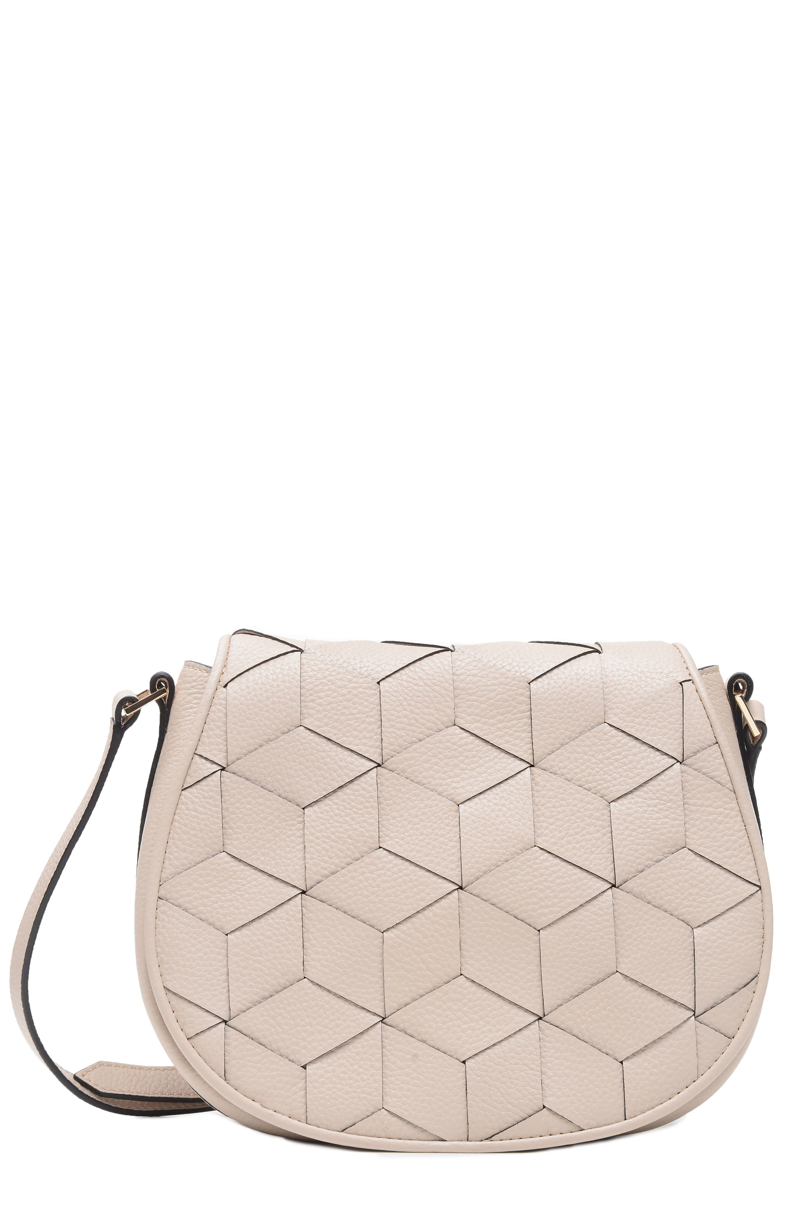 WELDEN ESCAPADE PEBBLED LEATHER SADDLE BAG - IVORY