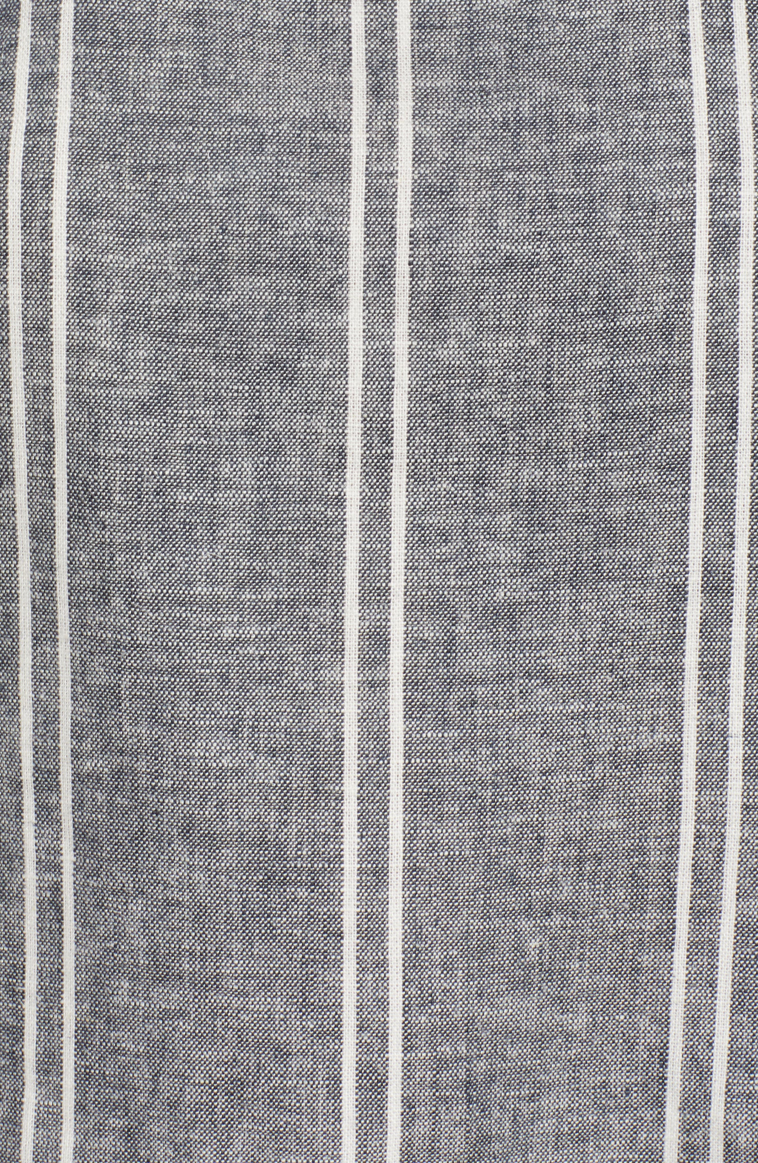 Stripe Linen Blend Tank,                             Alternate thumbnail 6, color,                             Navy Peacoat Chambray Stripe