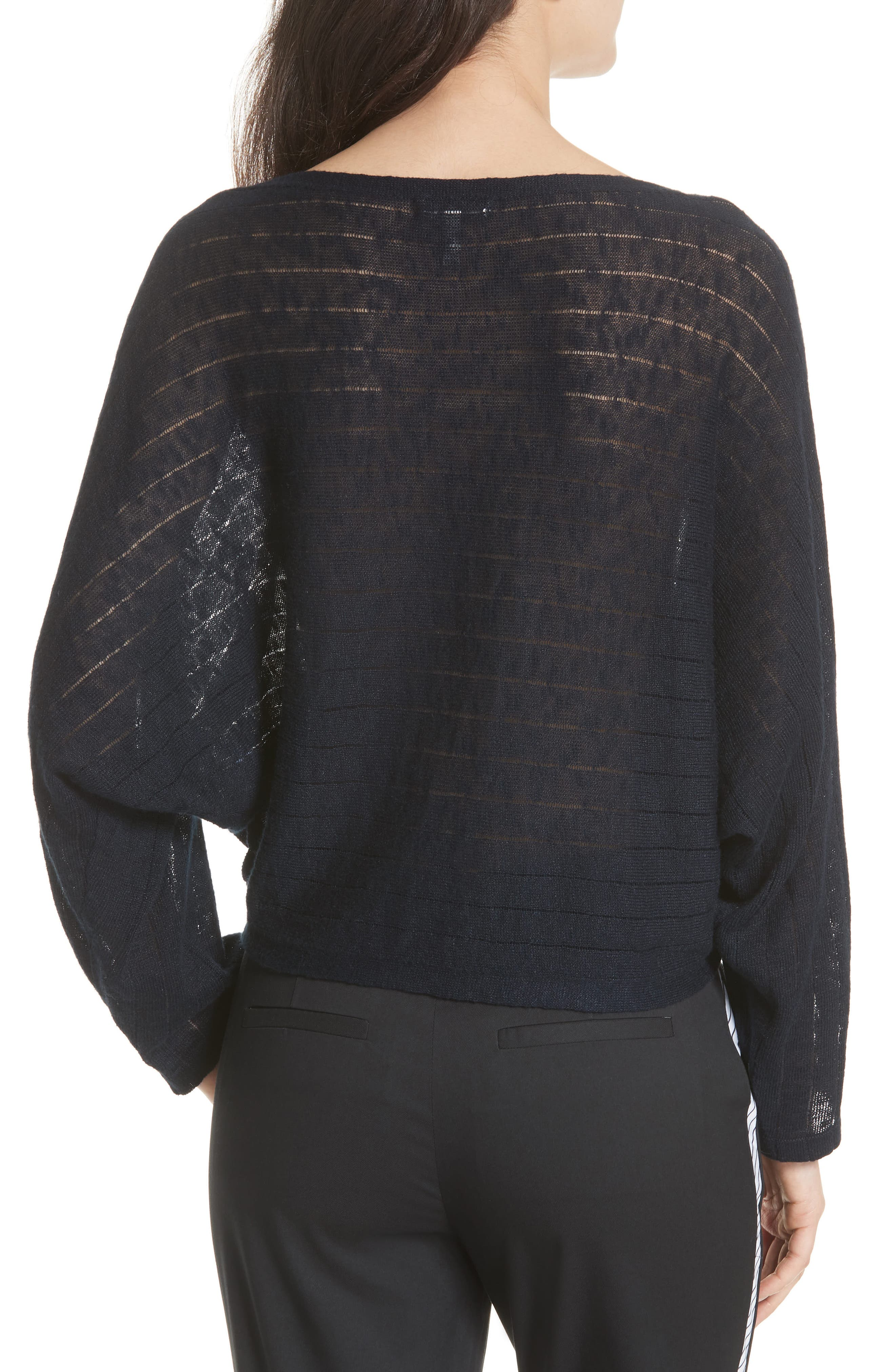 Ramie Cotton Sweater,                             Alternate thumbnail 2, color,                             Midnight