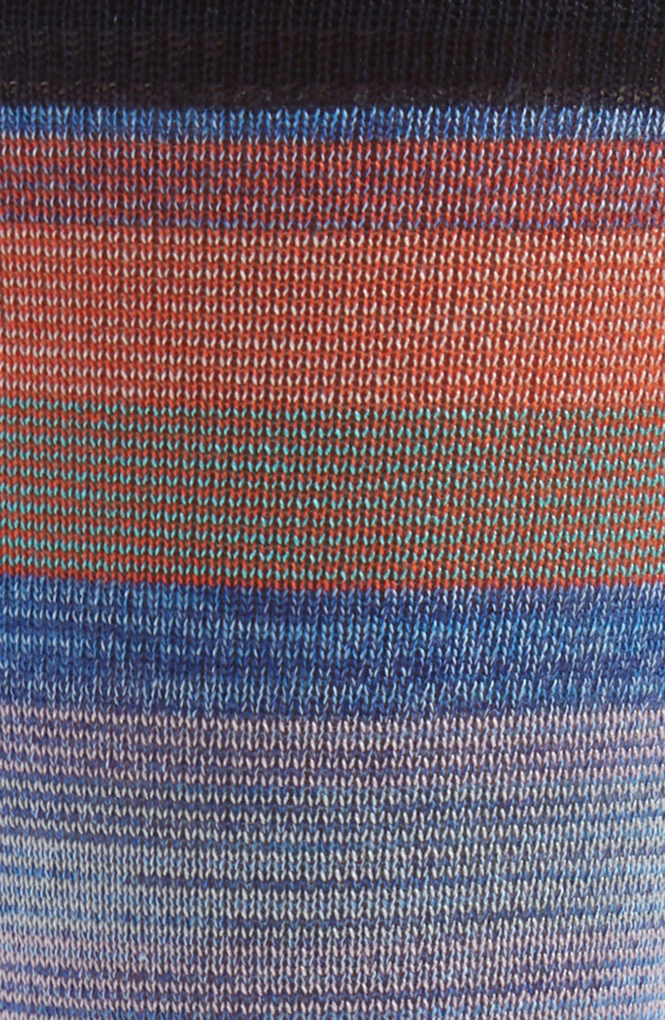 Stripe Socks,                             Alternate thumbnail 2, color,                             Midnight
