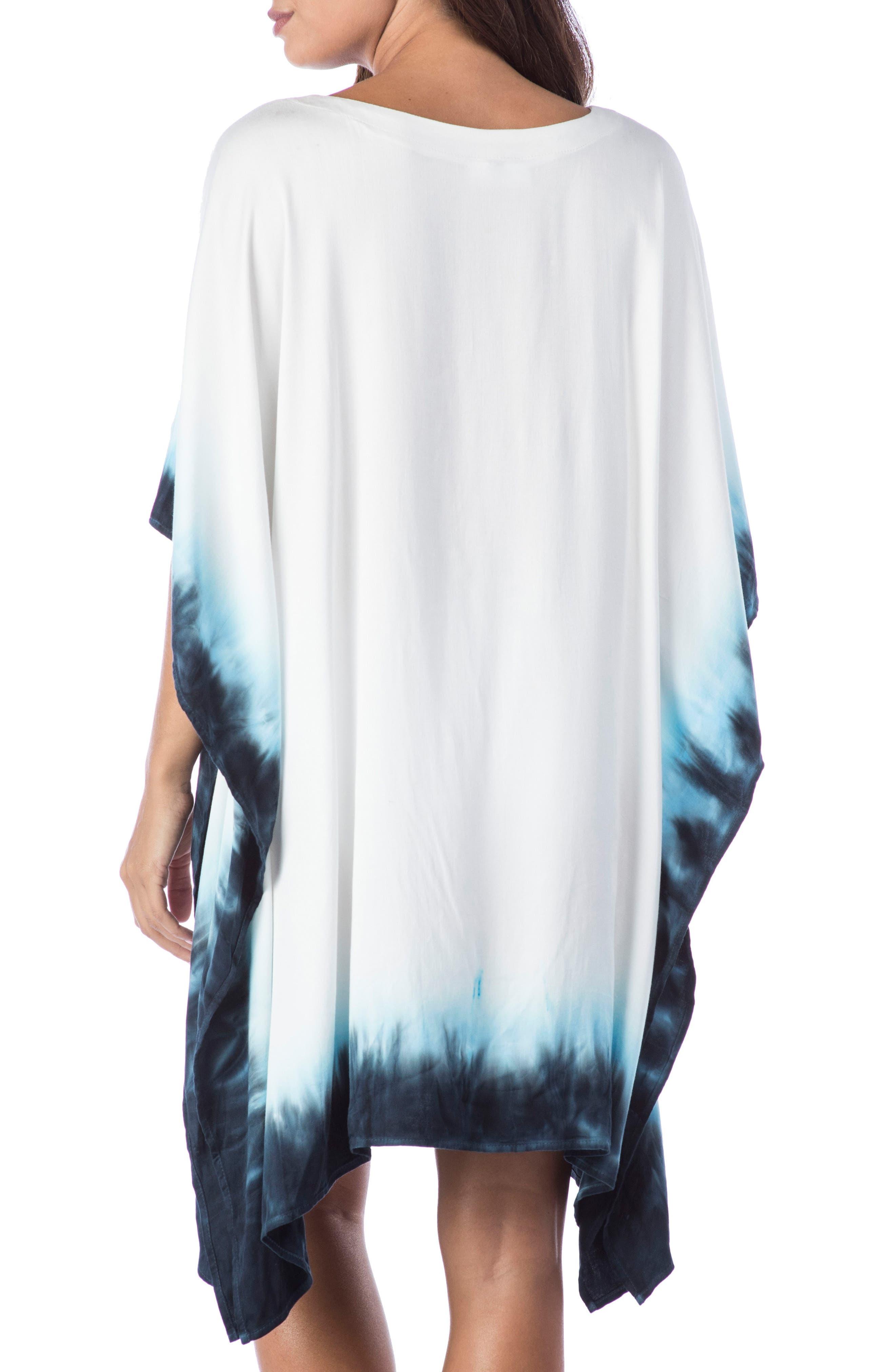 St. Tropez Lace-Up Cover-Up Tunic,                             Alternate thumbnail 2, color,                             Blue
