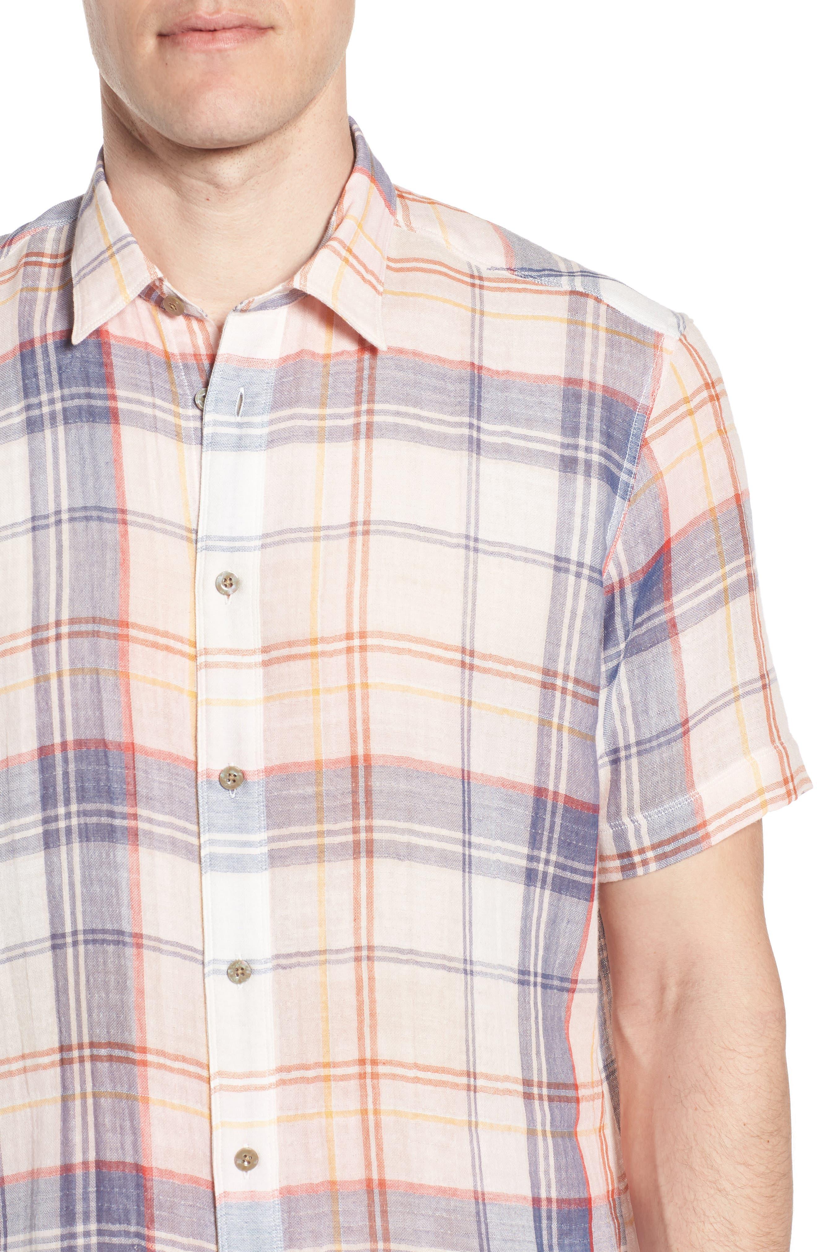 Tradewinds Regular Fit Short Sleeve Sport Shirt,                             Alternate thumbnail 2, color,                             Rose