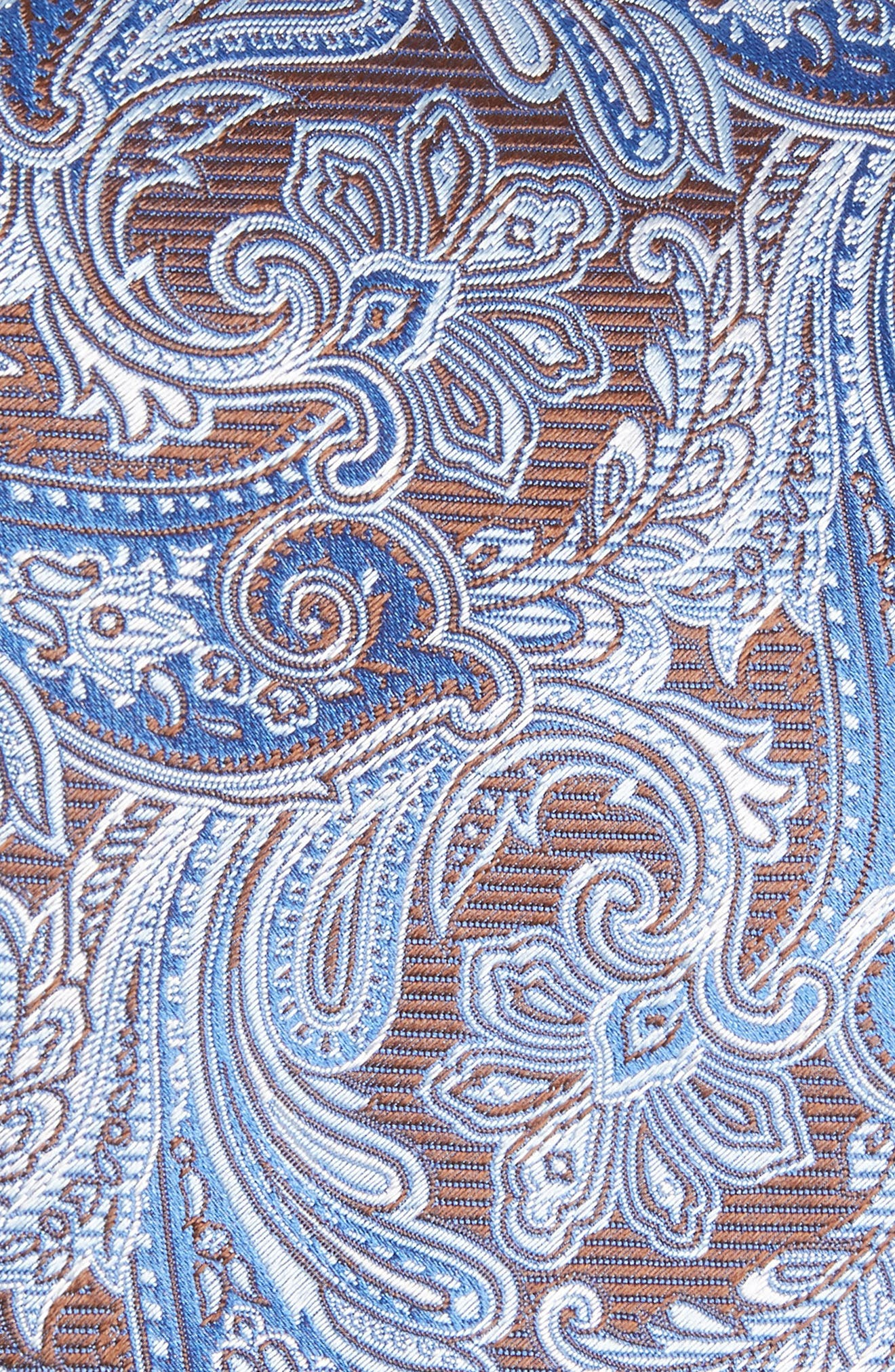 Paisley Silk Tie,                             Alternate thumbnail 2, color,                             Brown