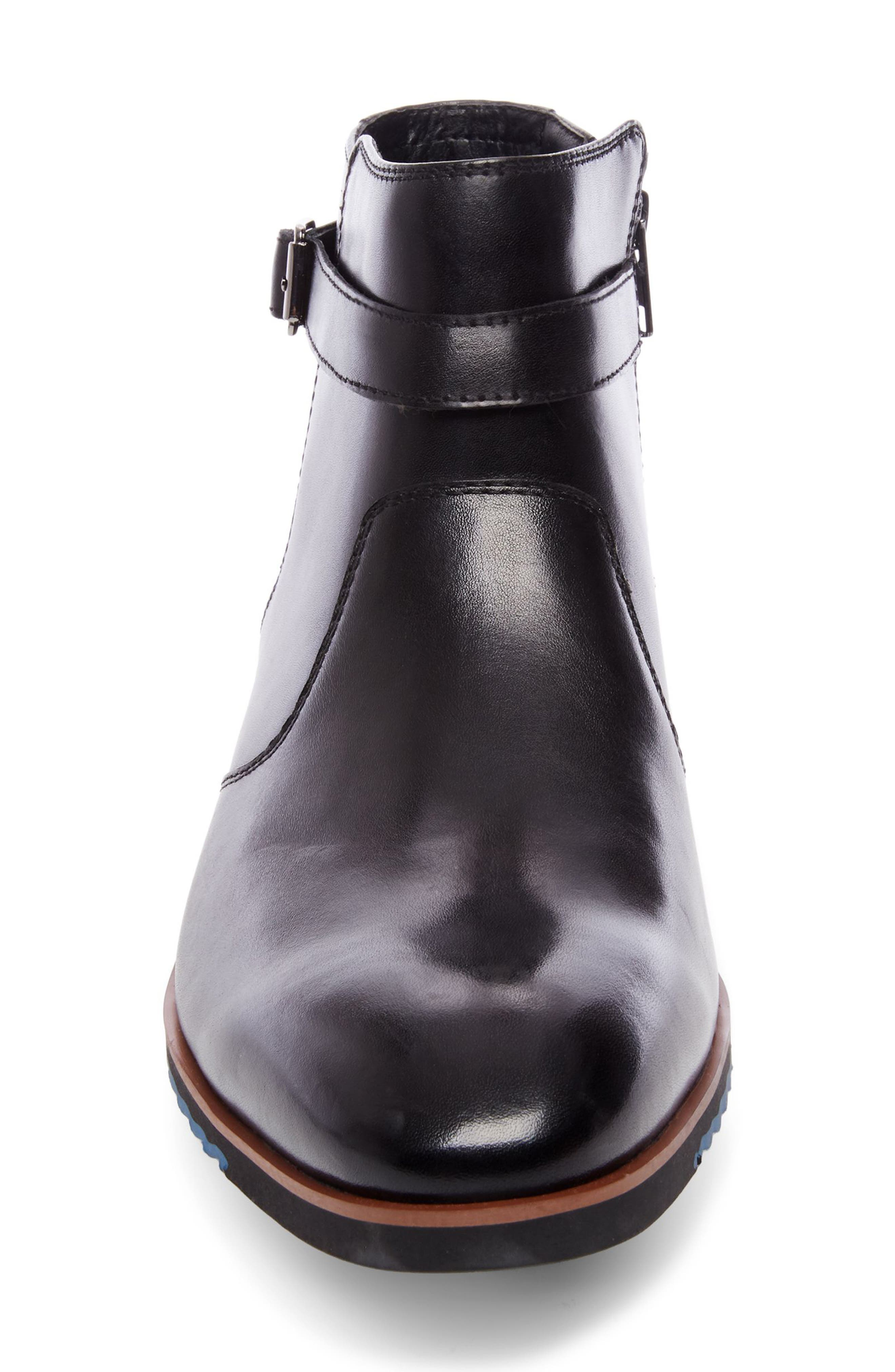Levant Boot,                             Alternate thumbnail 4, color,                             Black Leather