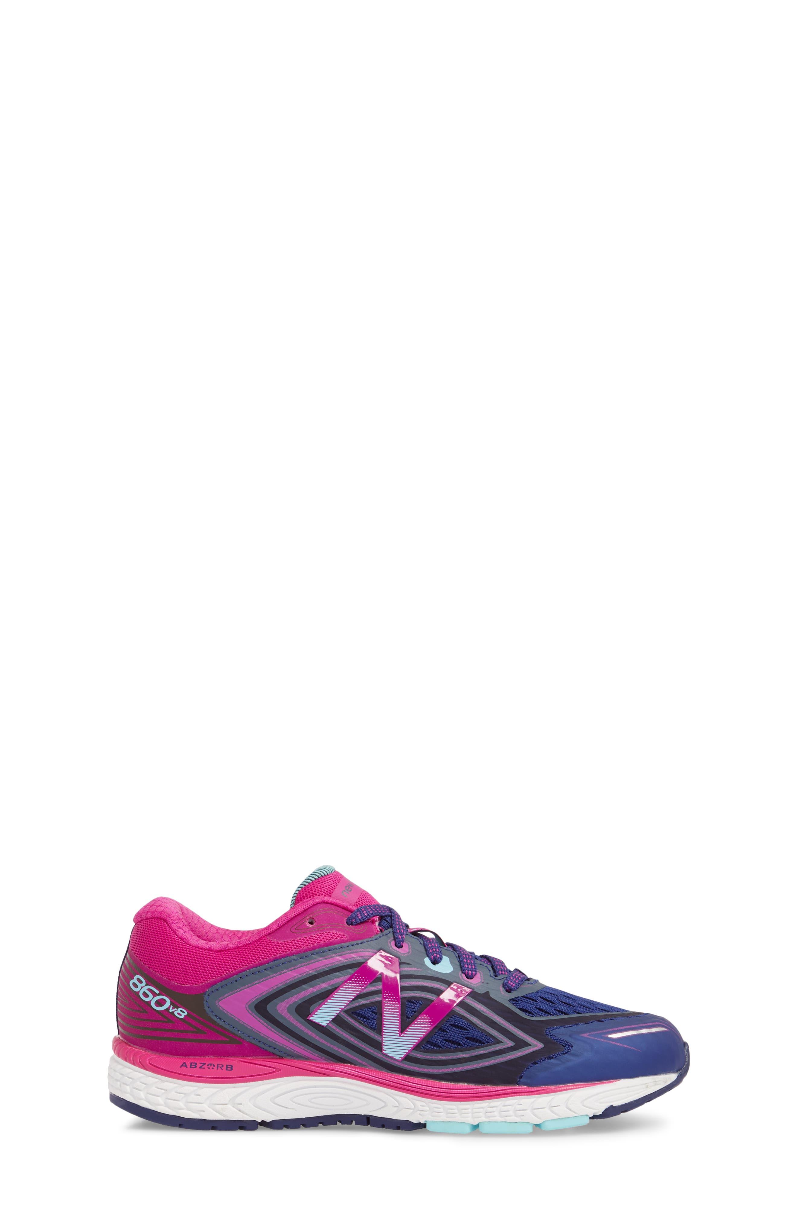 860v8 Sneaker,                             Alternate thumbnail 3, color,                             Navy