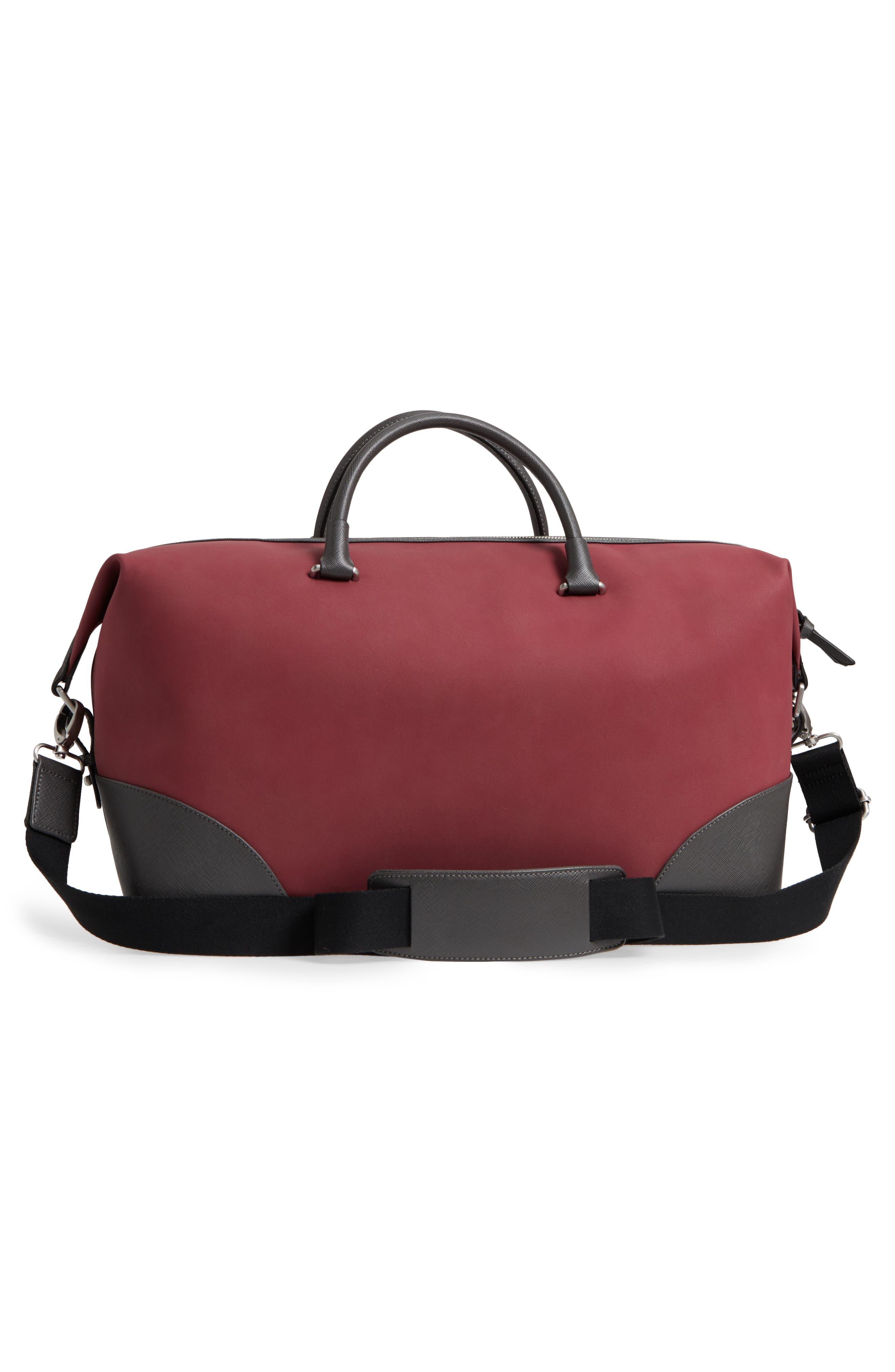Swipes Duffel Bag,                             Alternate thumbnail 3, color,                             Red