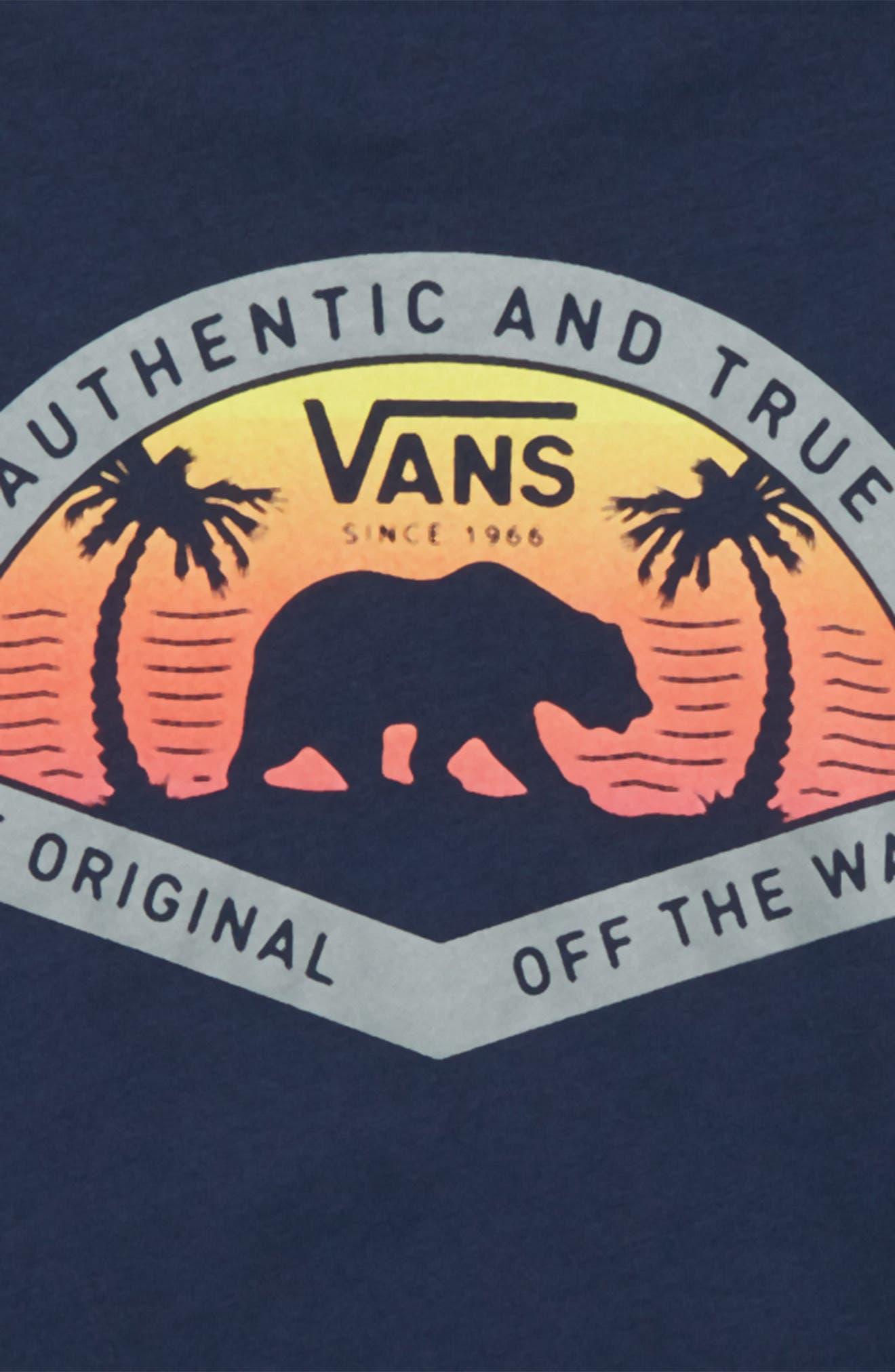 Grizzly Beach Graphic T-Shirt,                             Alternate thumbnail 3, color,                             Dress Blues