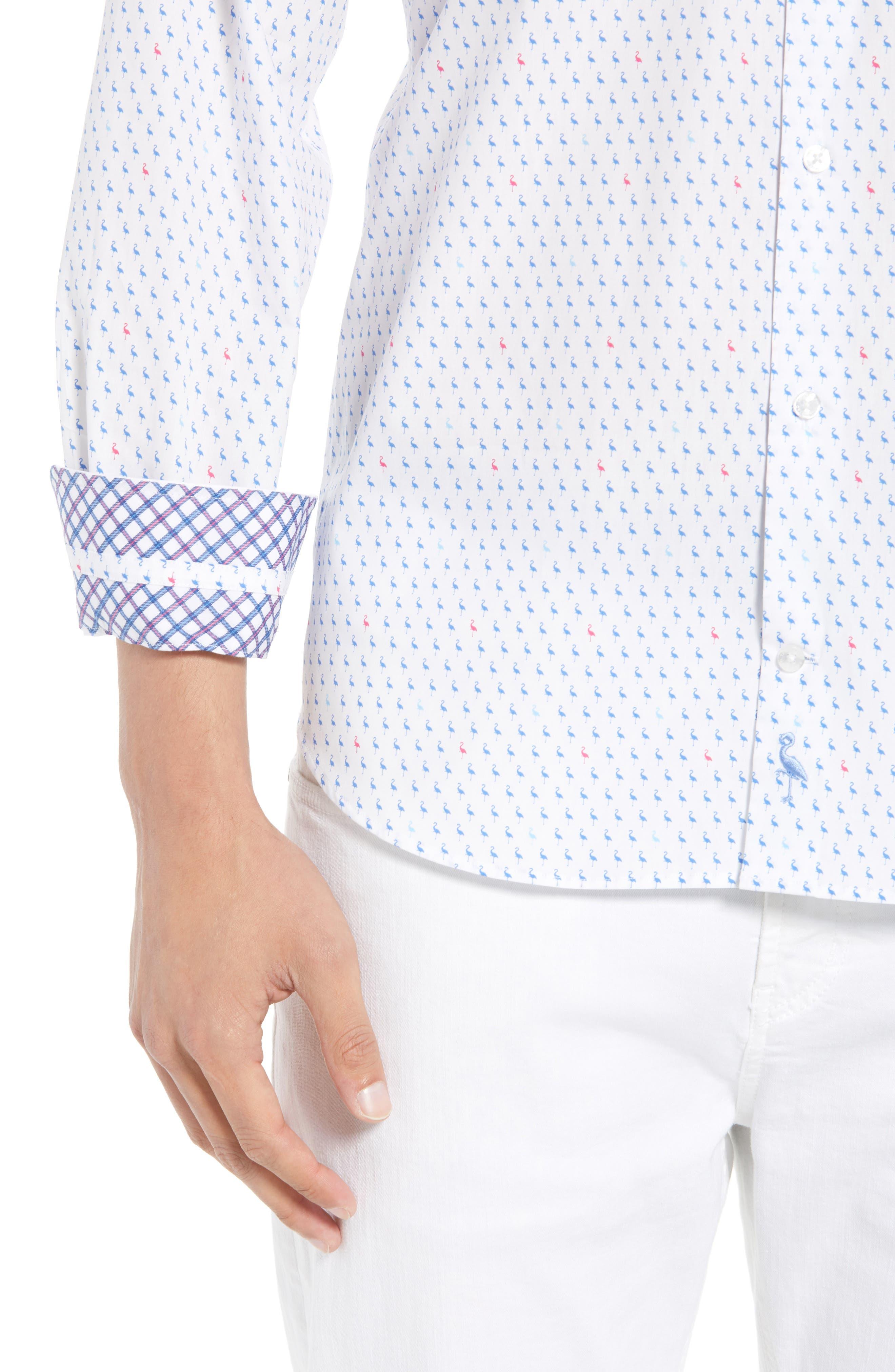 Auden Regular Fit Print Sport Shirt,                             Alternate thumbnail 2, color,                             Peri Blue